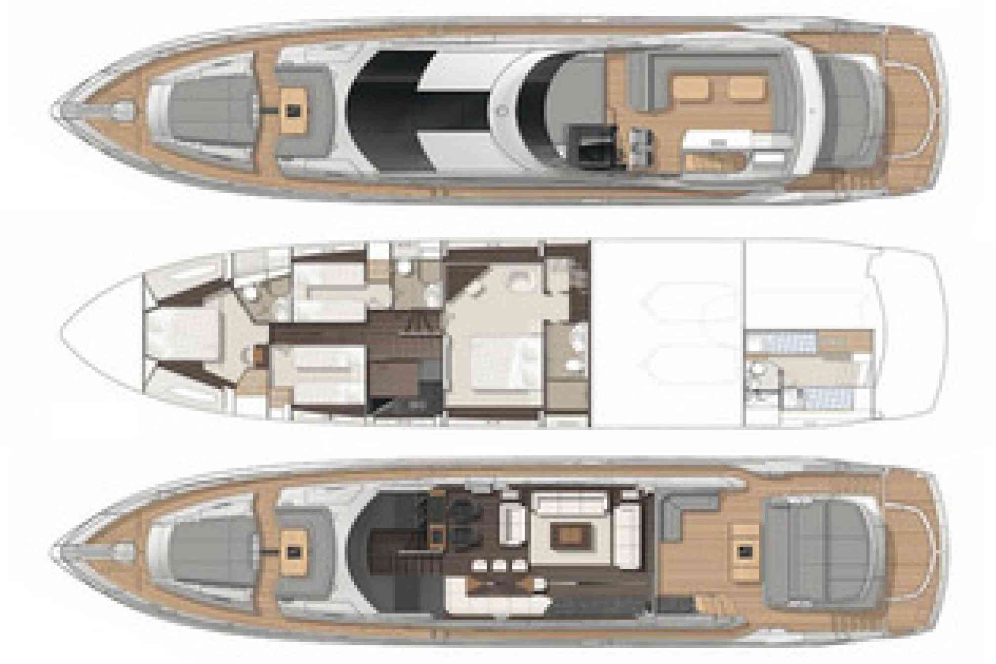 Sunseeker 80 charter yacht layout