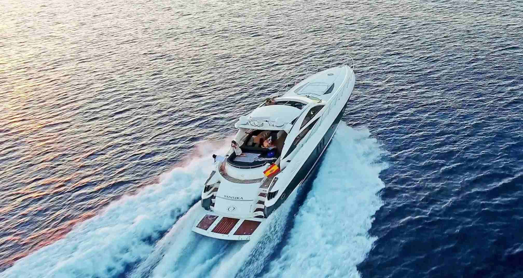 Sunseeker Predator 68 yacht charter sailing