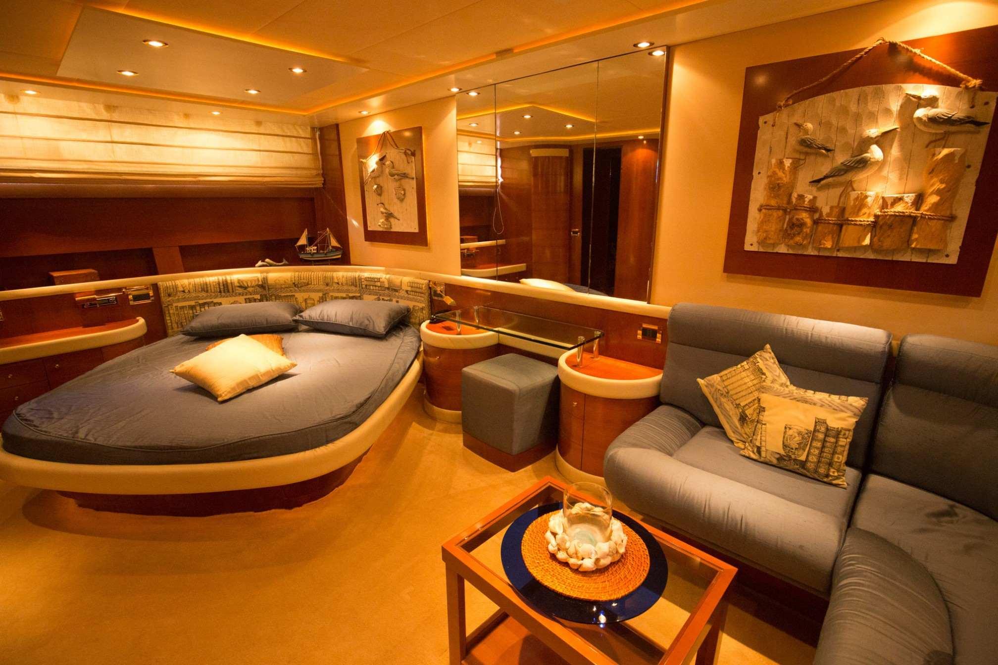 Alfamarine 78 charter yacht cabin