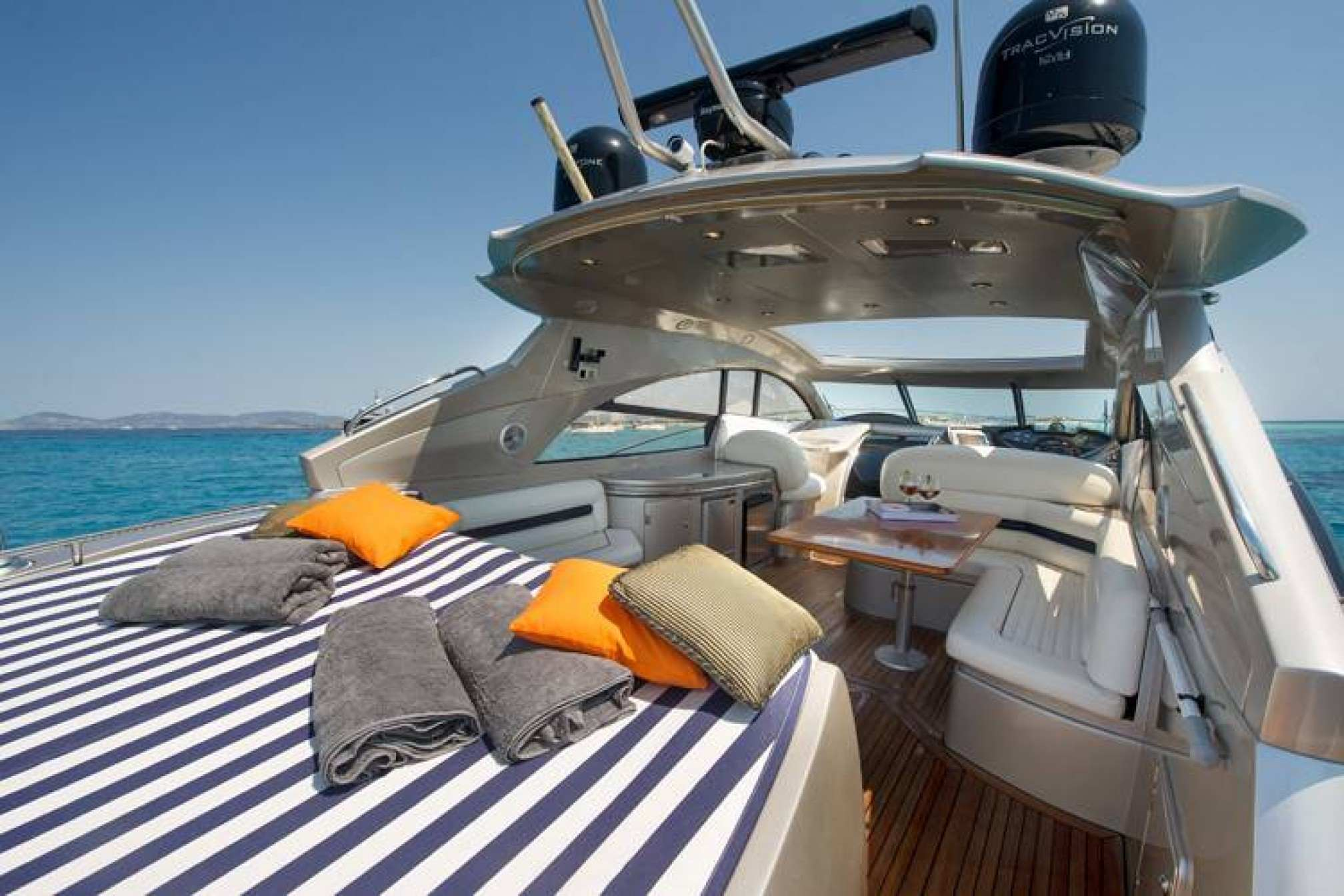 Sunseeker Predator 61 charter yacht outdoors