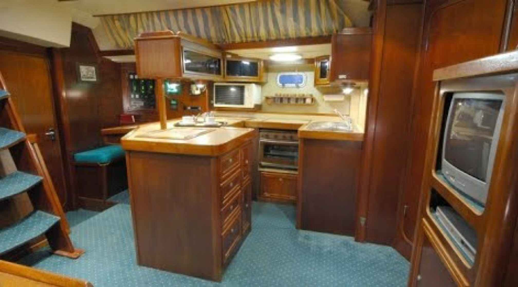 Summer Breeze charter sailboat kitchen