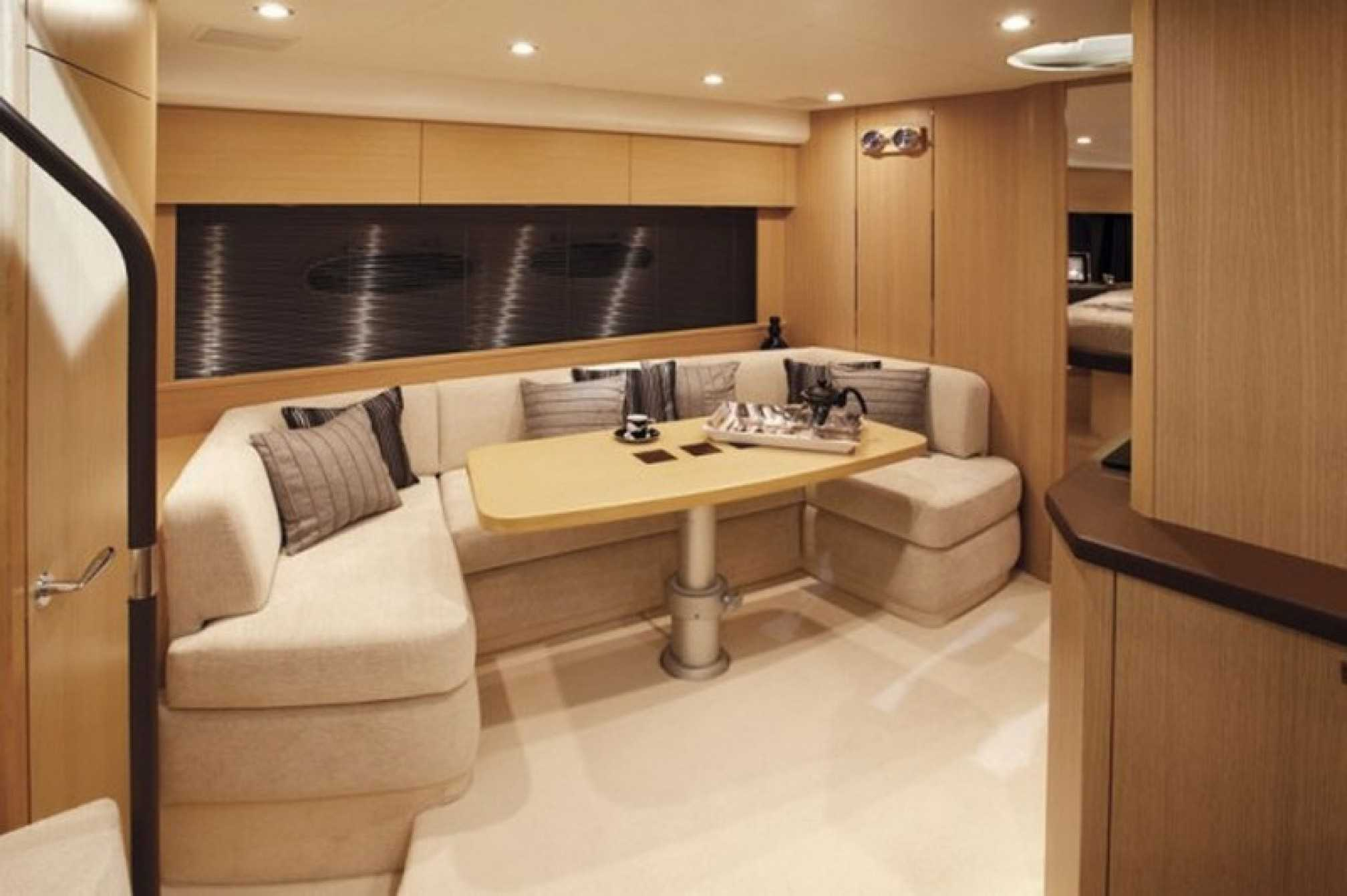 Princess V42 yacht charter salon