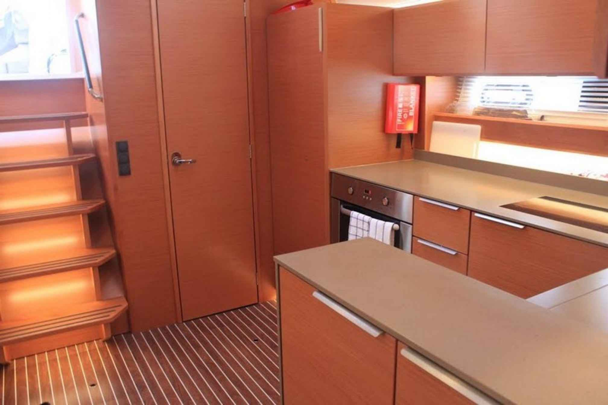 Bavaria 450 yacht charter kitchen