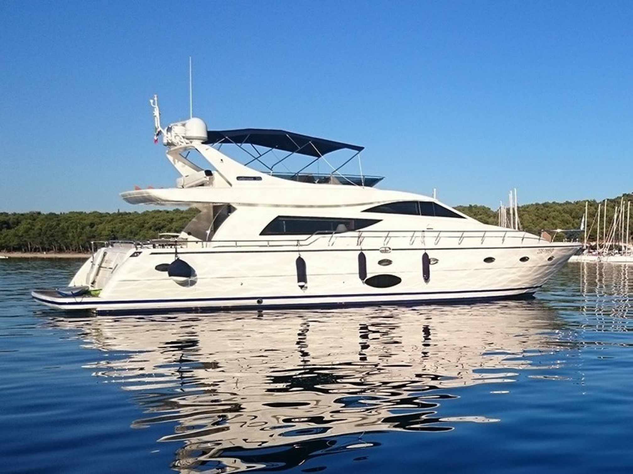 Uniesse 70 yacht charter anchored