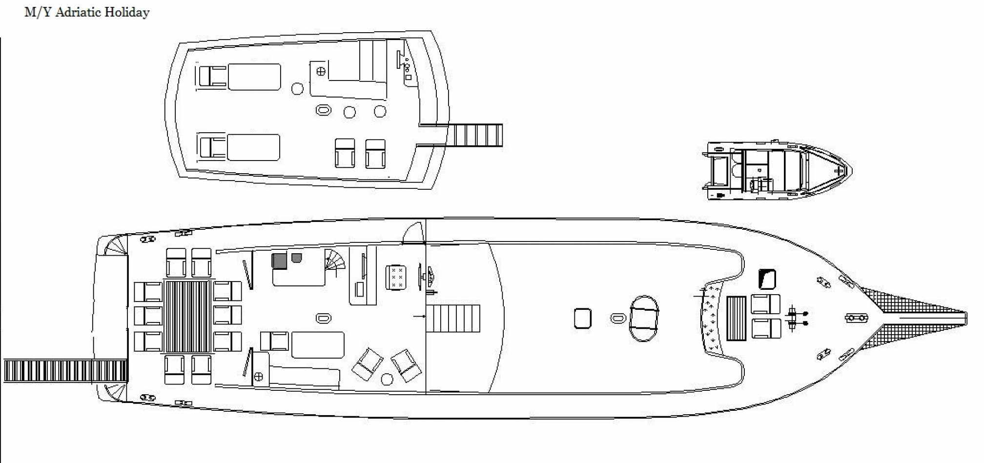 Adriatic Holiday gulet charter layout
