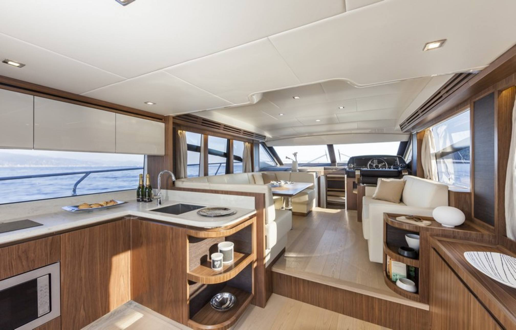 Absolute 52 yacht charter salon
