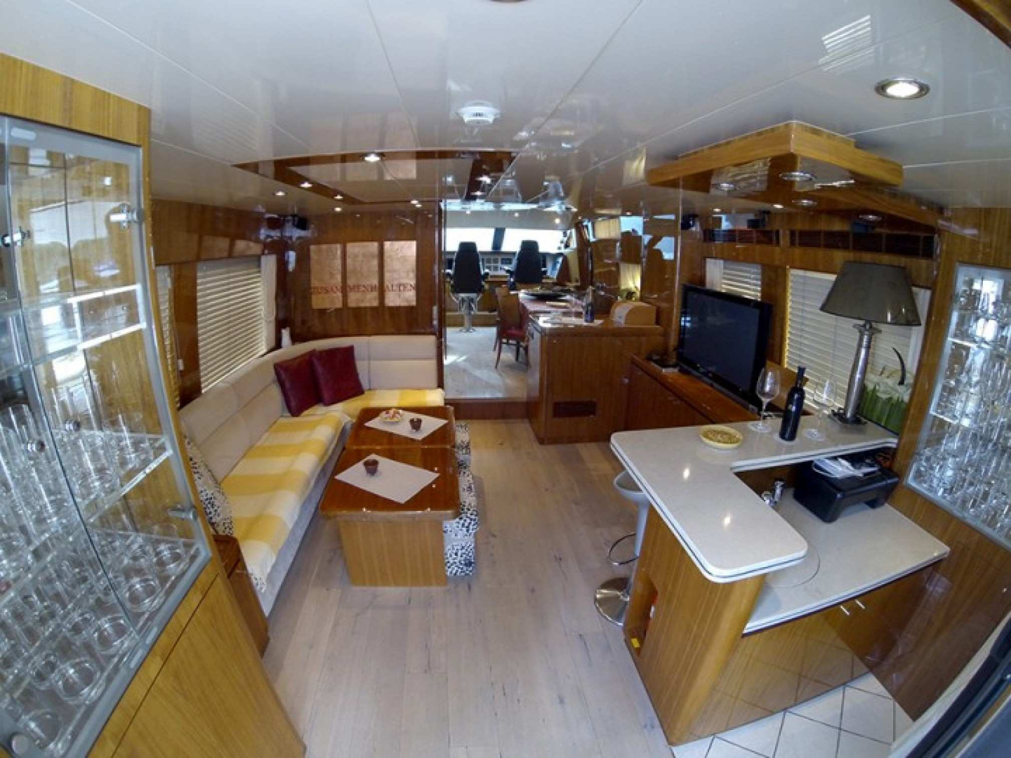 Elegance 70 yacht charter indoors