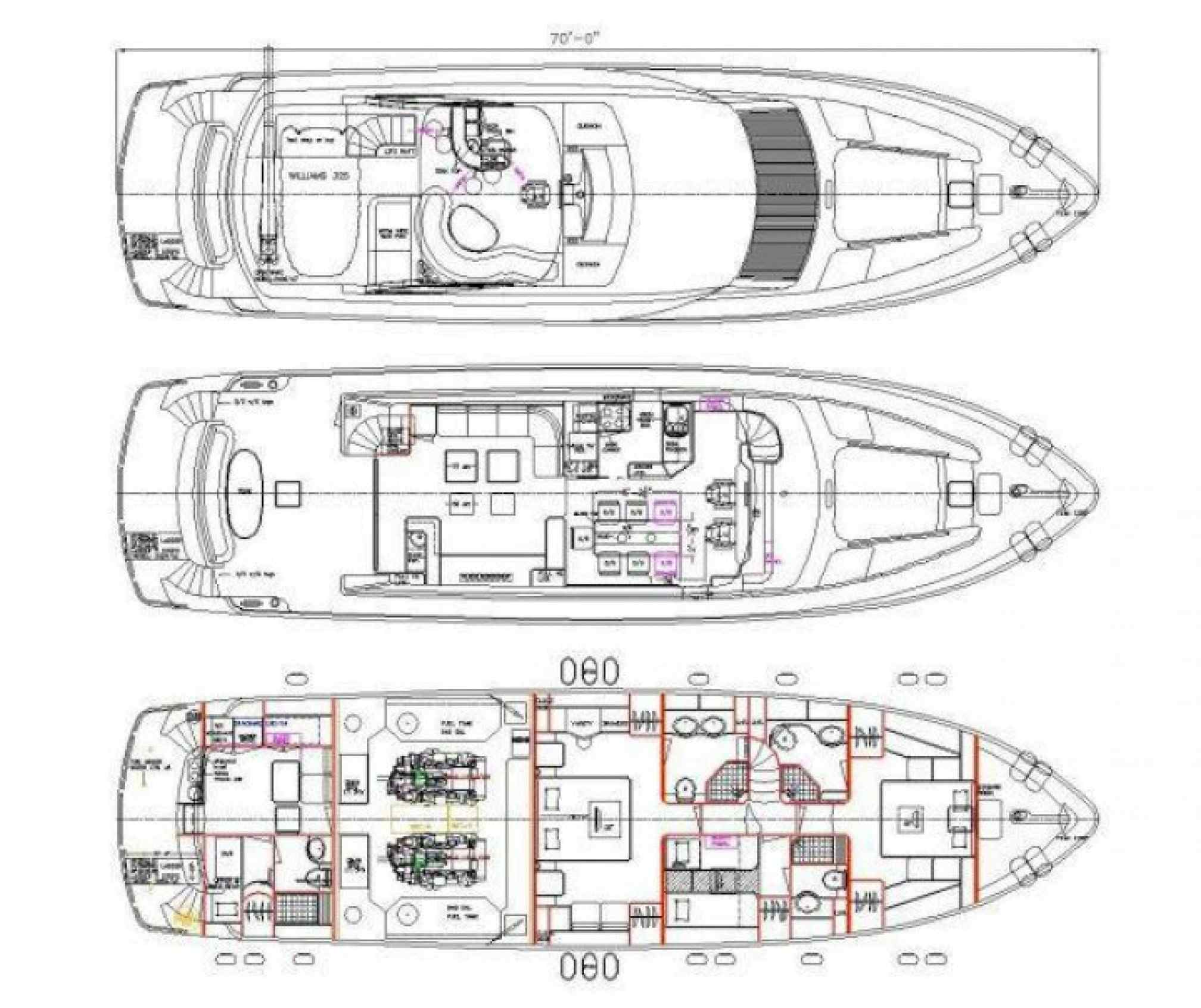 Elegance 70 yacht charter layout