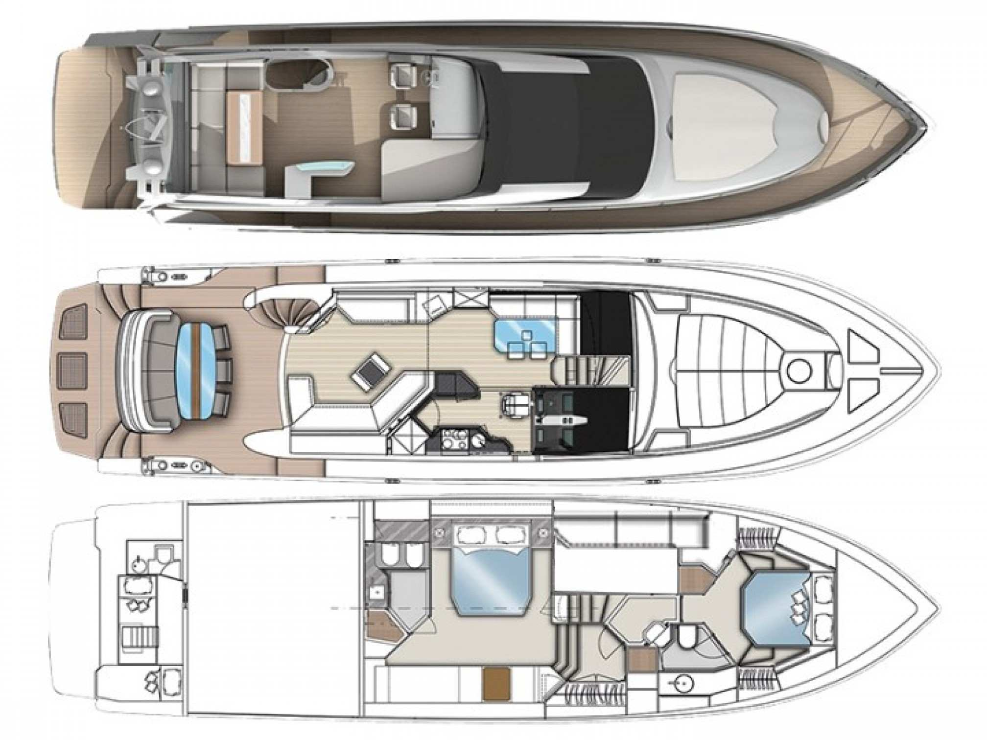 Dominator 640S yacht charter layout