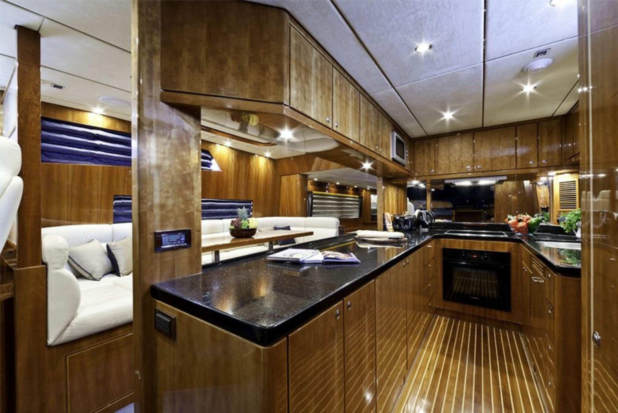 Montefino 78 charter yacht kitchen