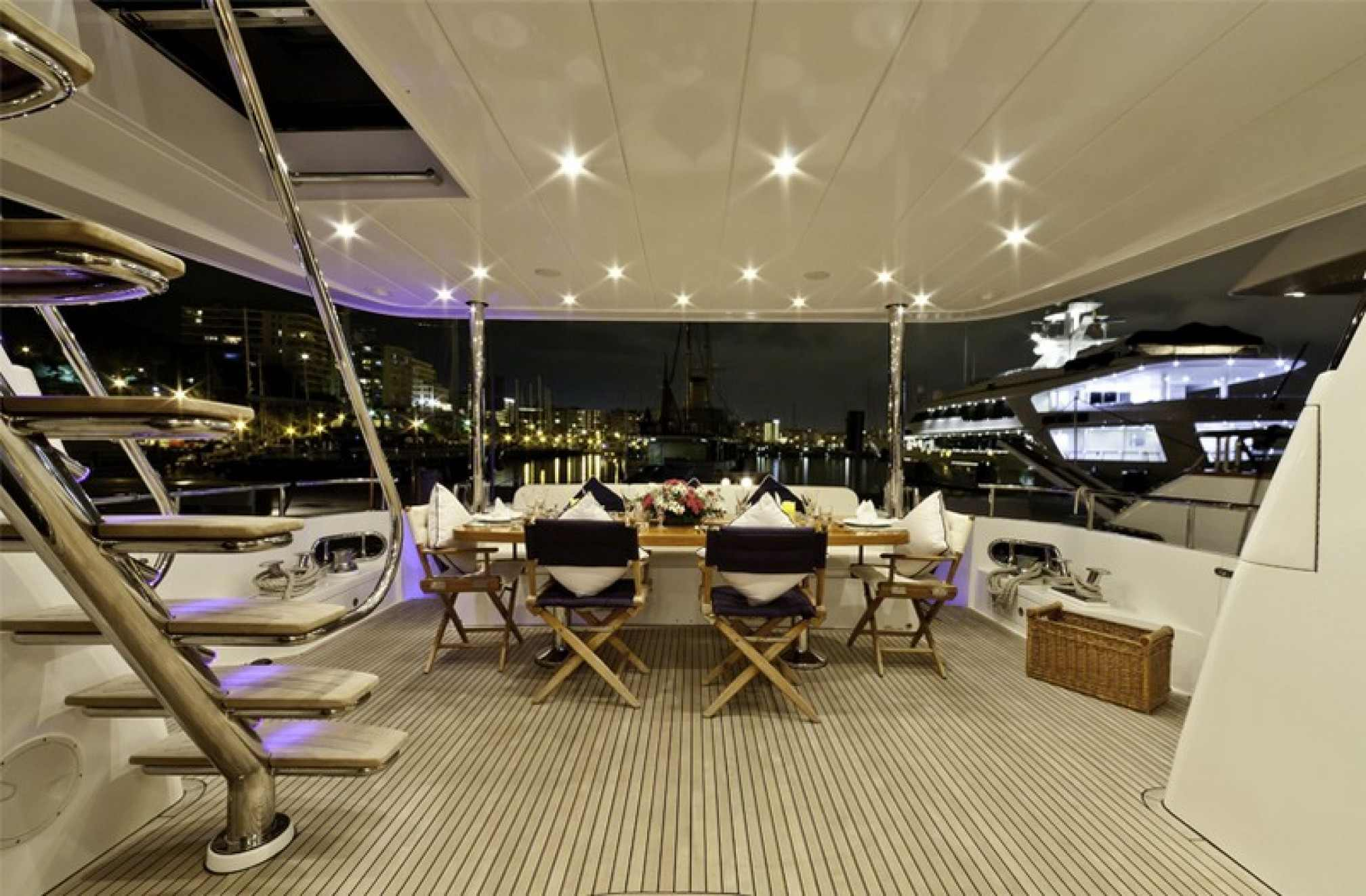 Montefino 78 charter yacht outdoors