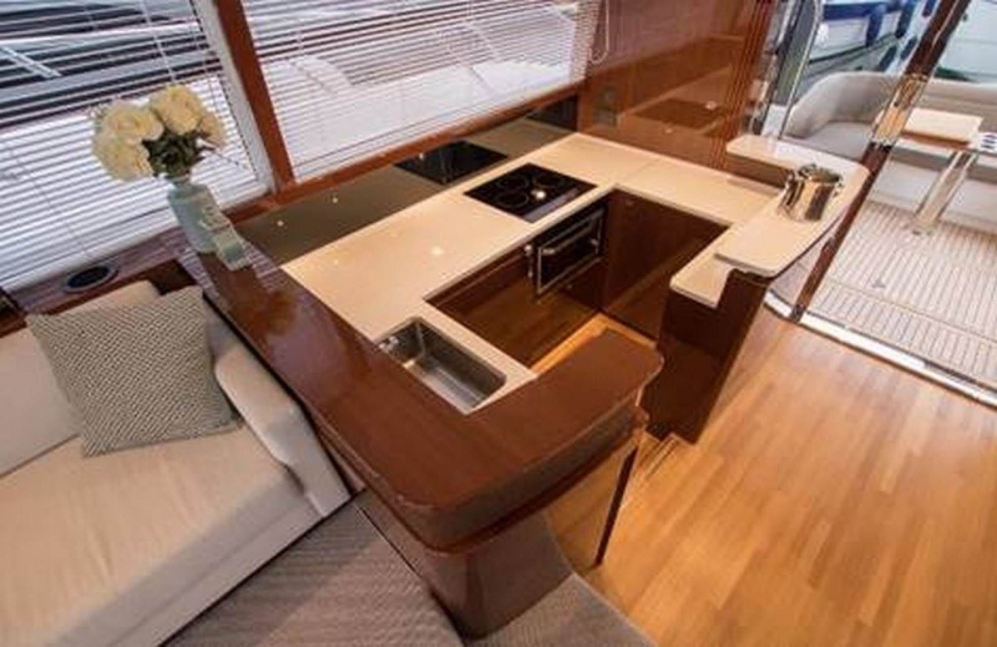 Princess 52 charter yacht kitchen
