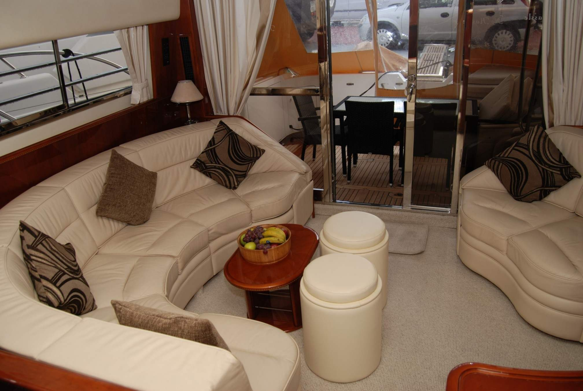Princess 60 yacht charter salon
