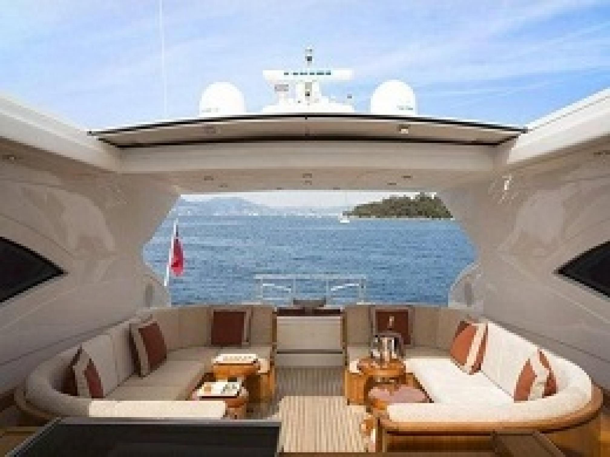 Mangusta 72 yacht charter outdoors