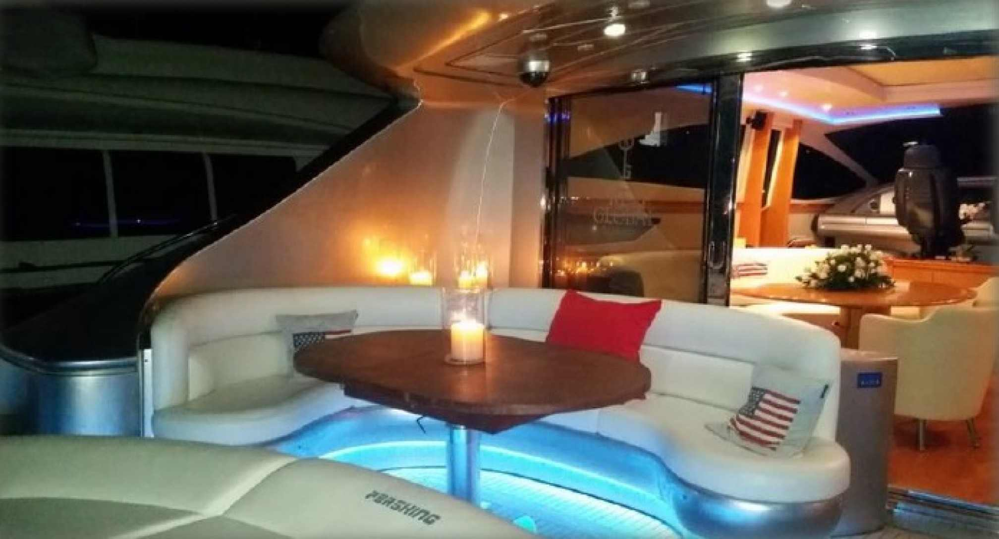 Pershing 88 yacht charter outdoors