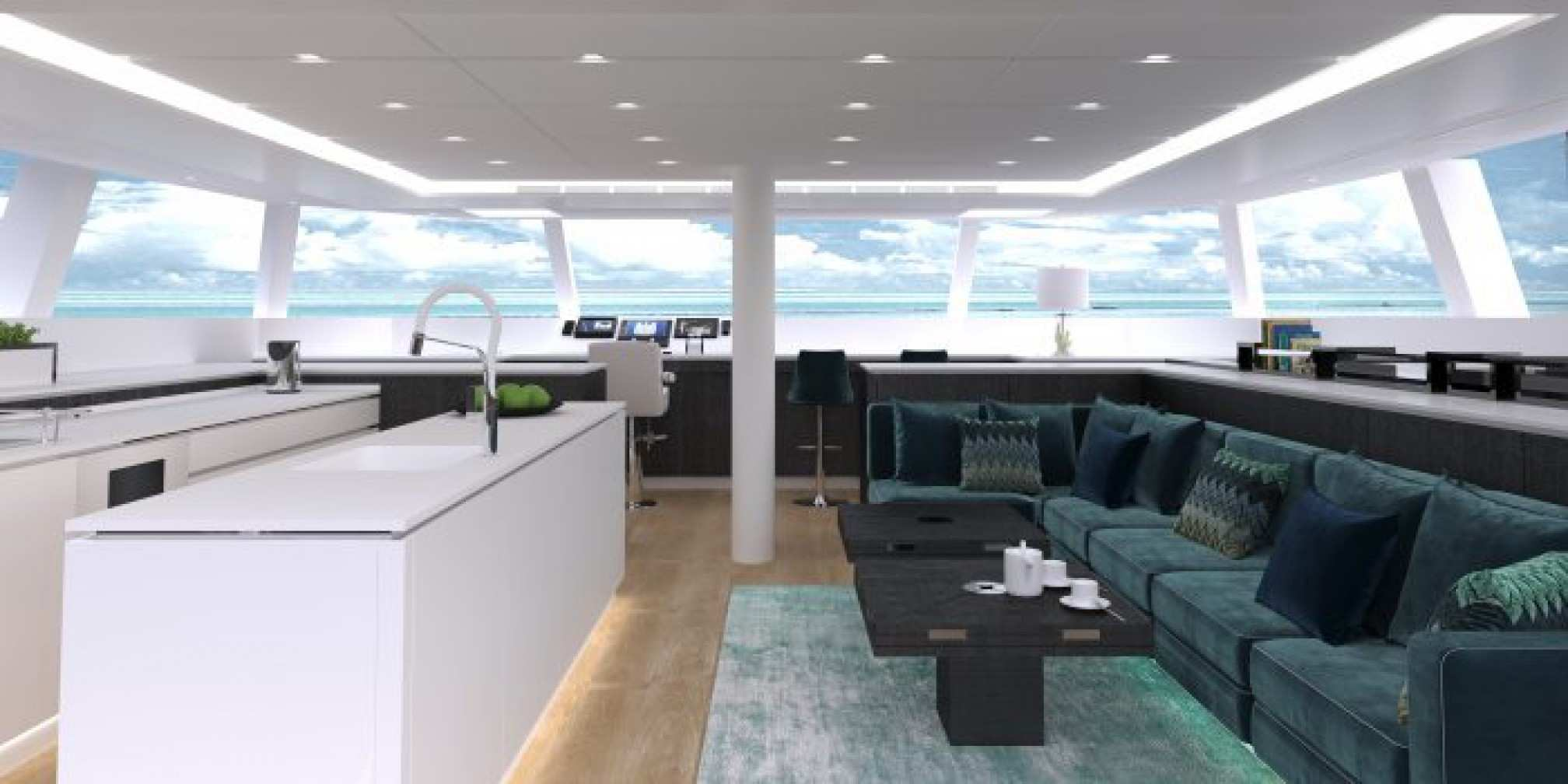 Orion yacht charter salon