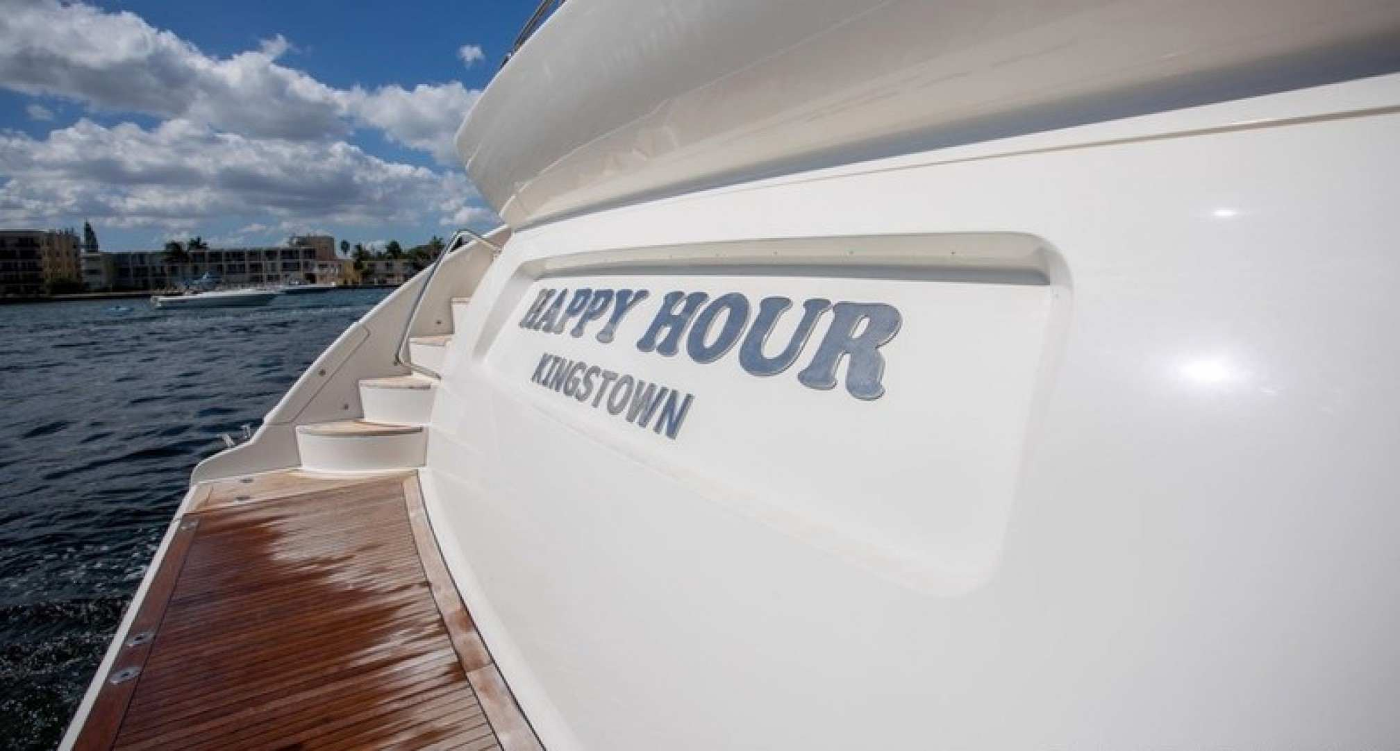Happy Hour yacht charter bow