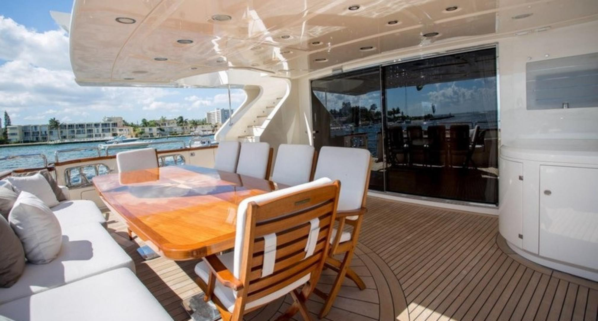 Happy Hour yacht charter foredeck