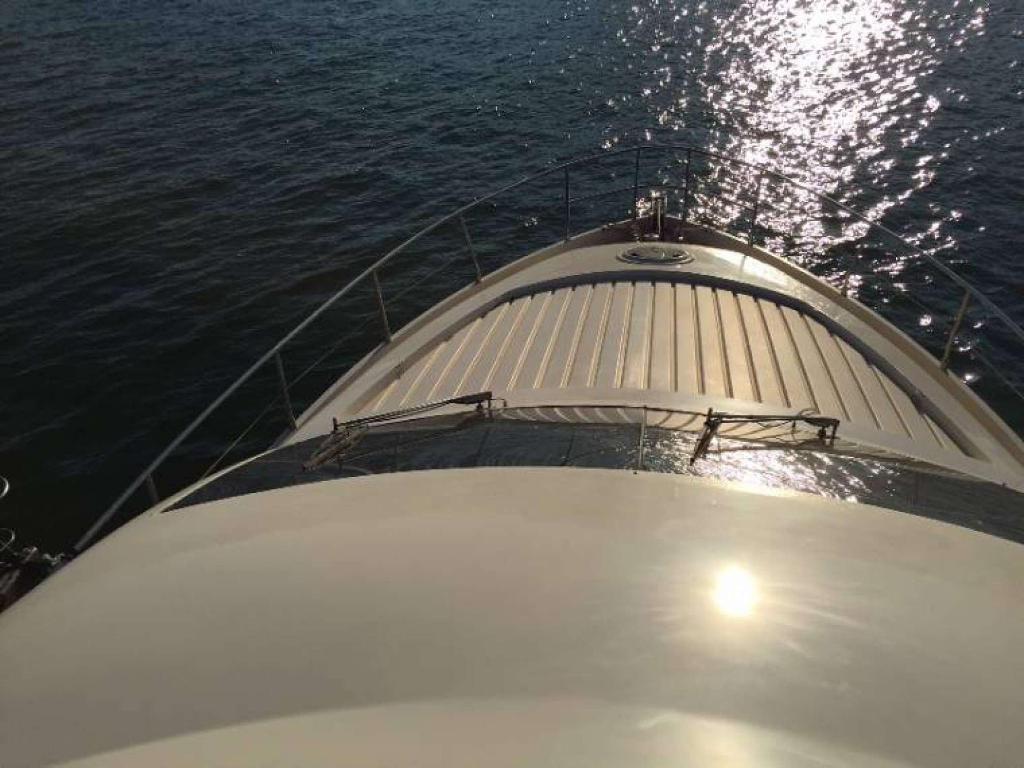 Aicon 56 Fly yacht charter bow