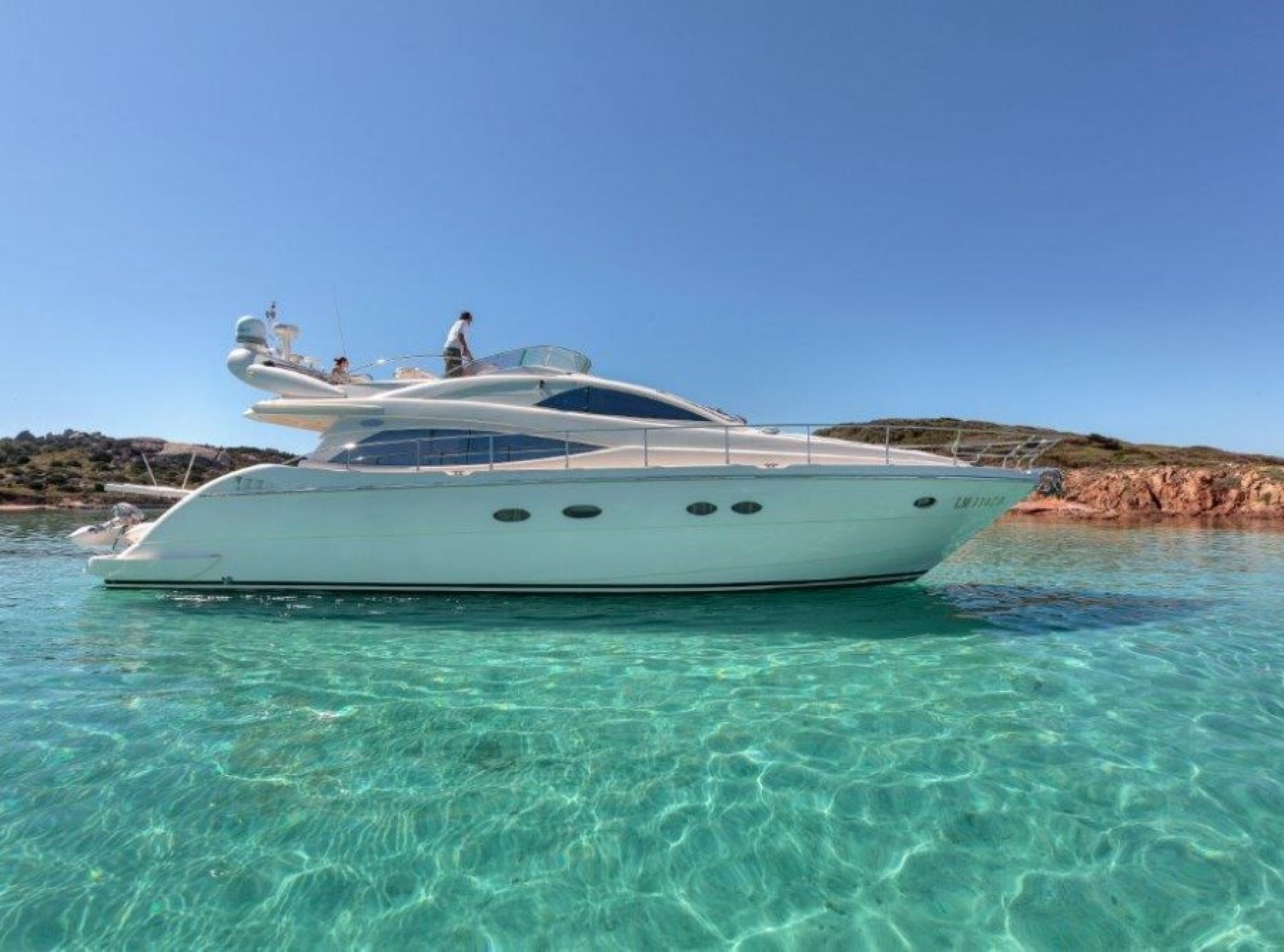 Aicon 56 Fly yacht charter mooring