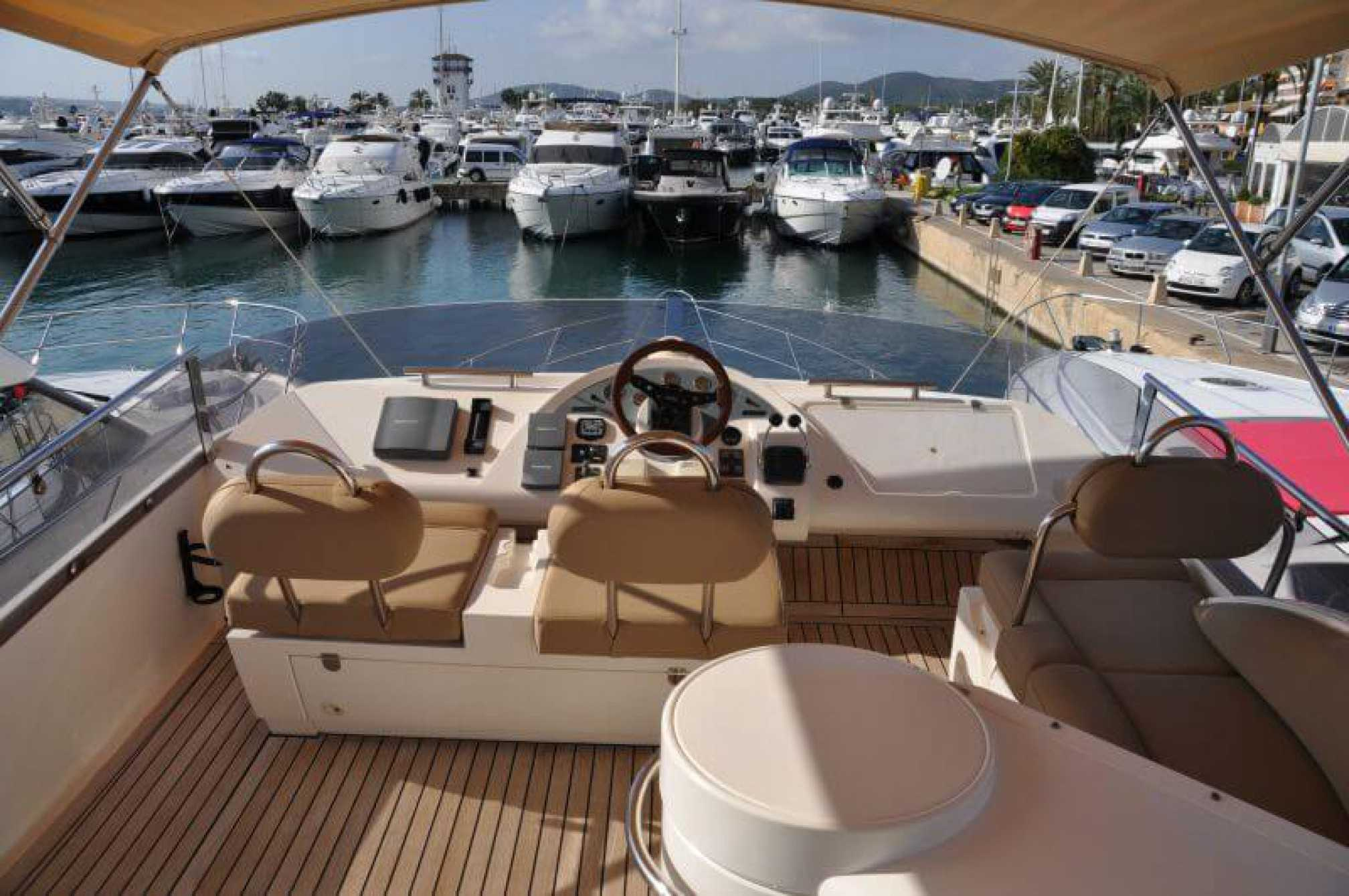 Fairline Phantom 50 yacht charter flybridge