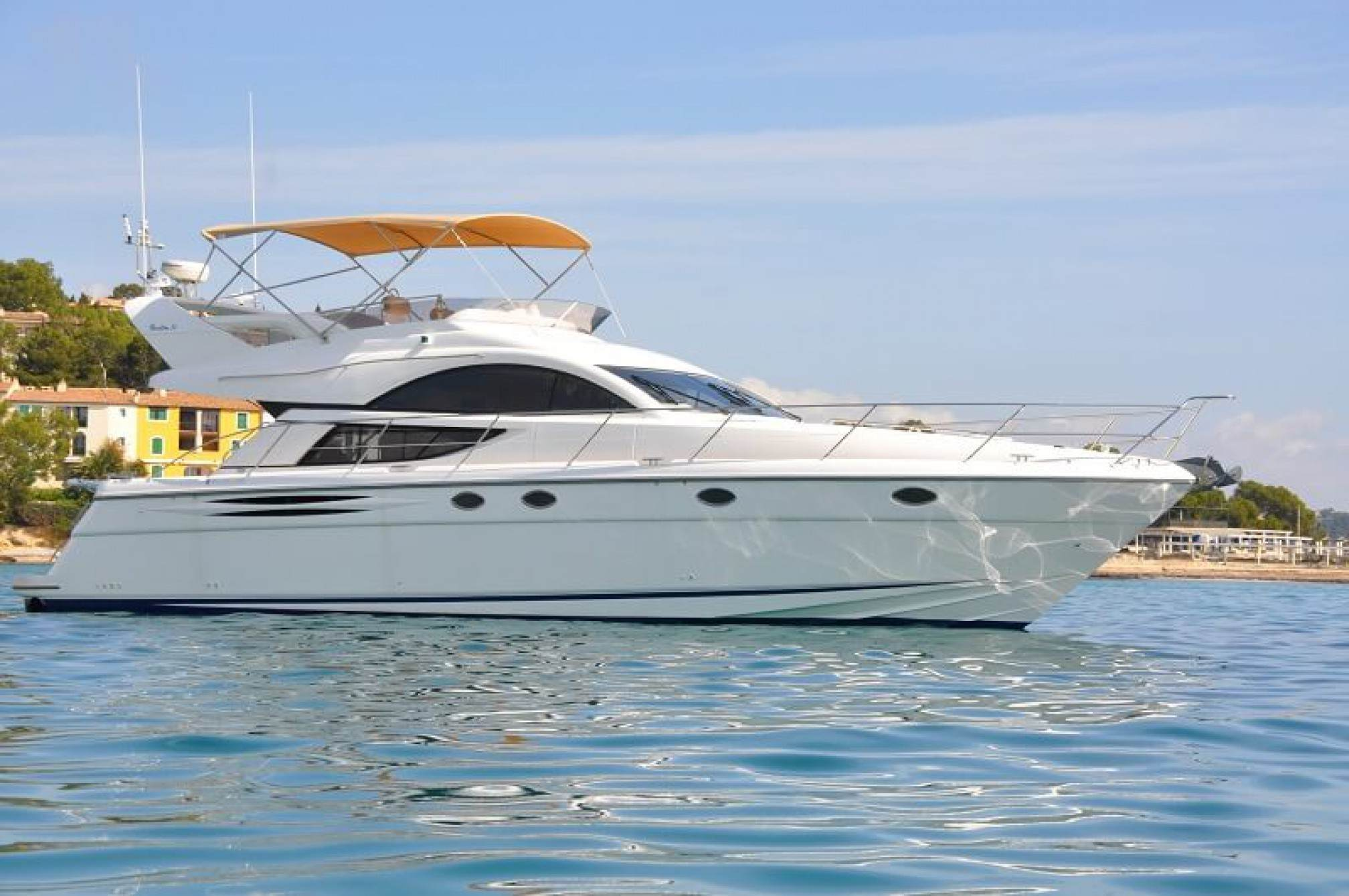 Fairline Phantom 50 yacht charter mooring