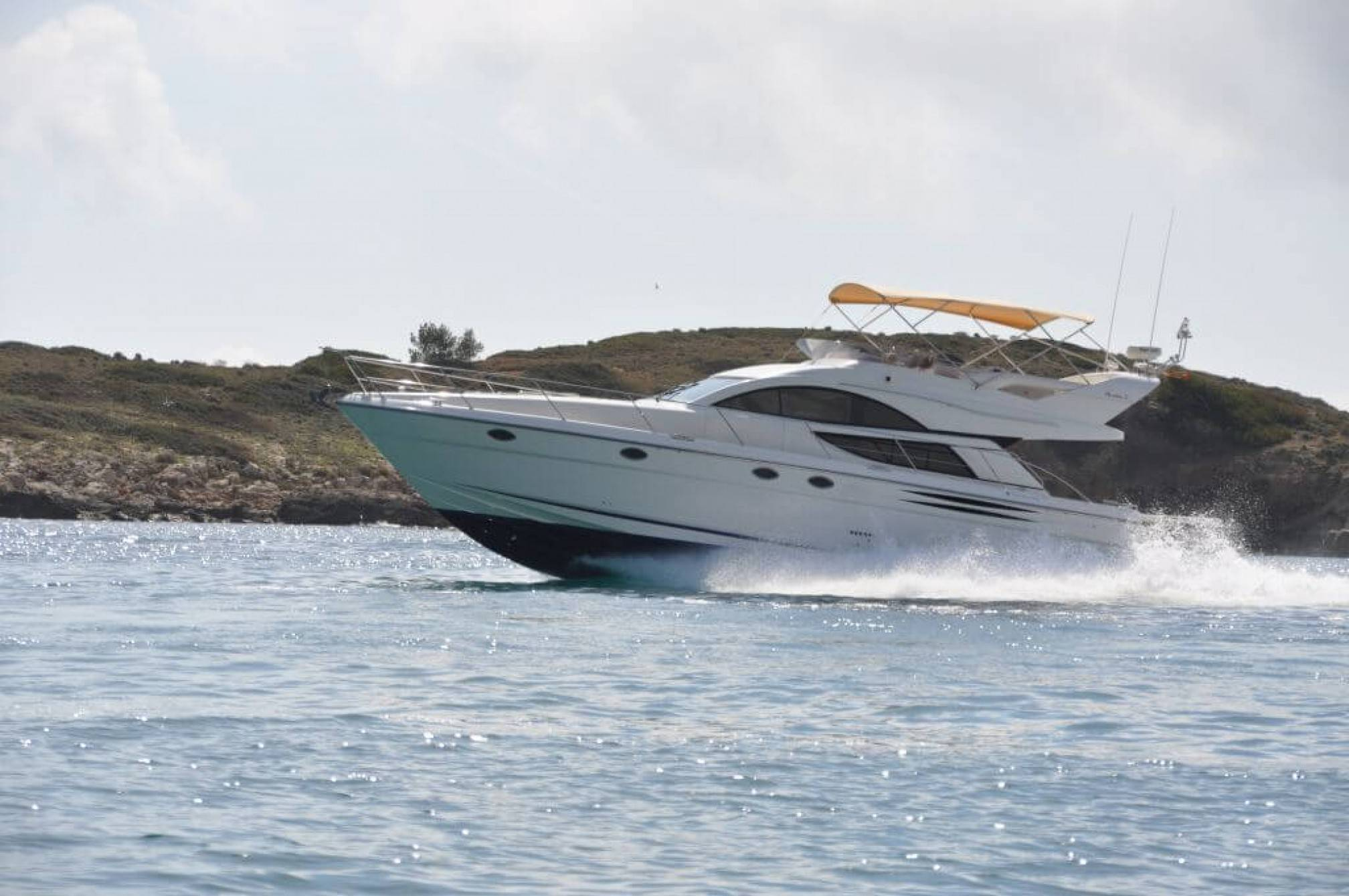 Fairline Phantom 50 yacht charter sailing