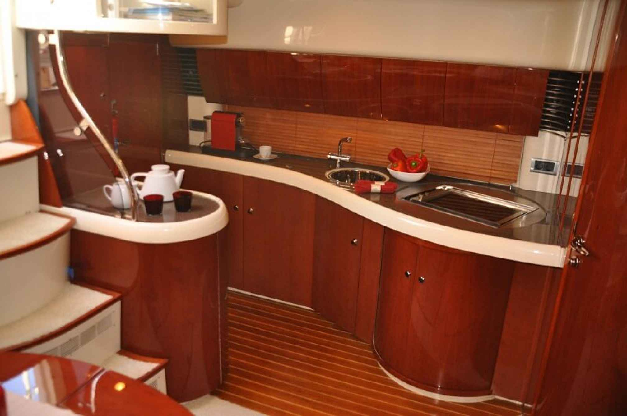 Fairline Targa 43 yacht charter galley