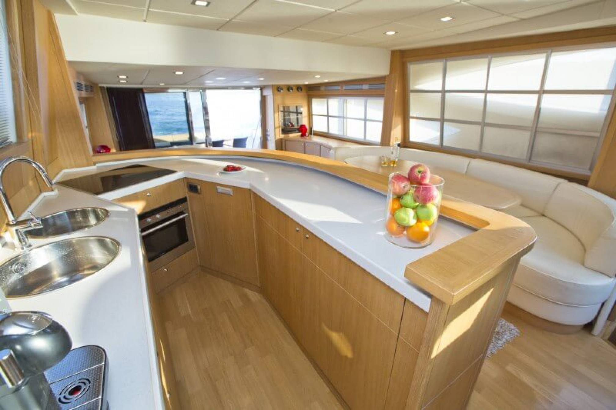 Abacus 70 yacht charter galley