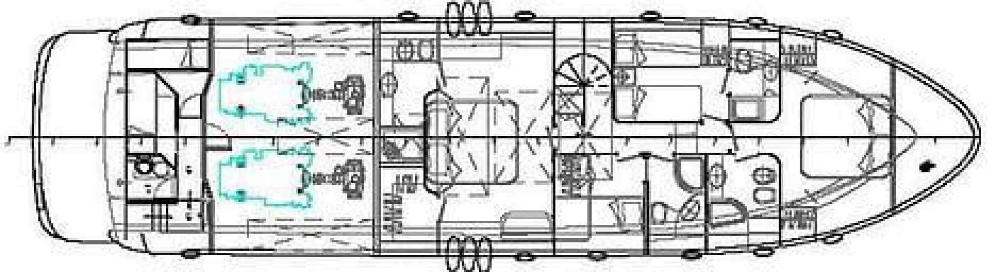 Abacus 70 yacht charter layout