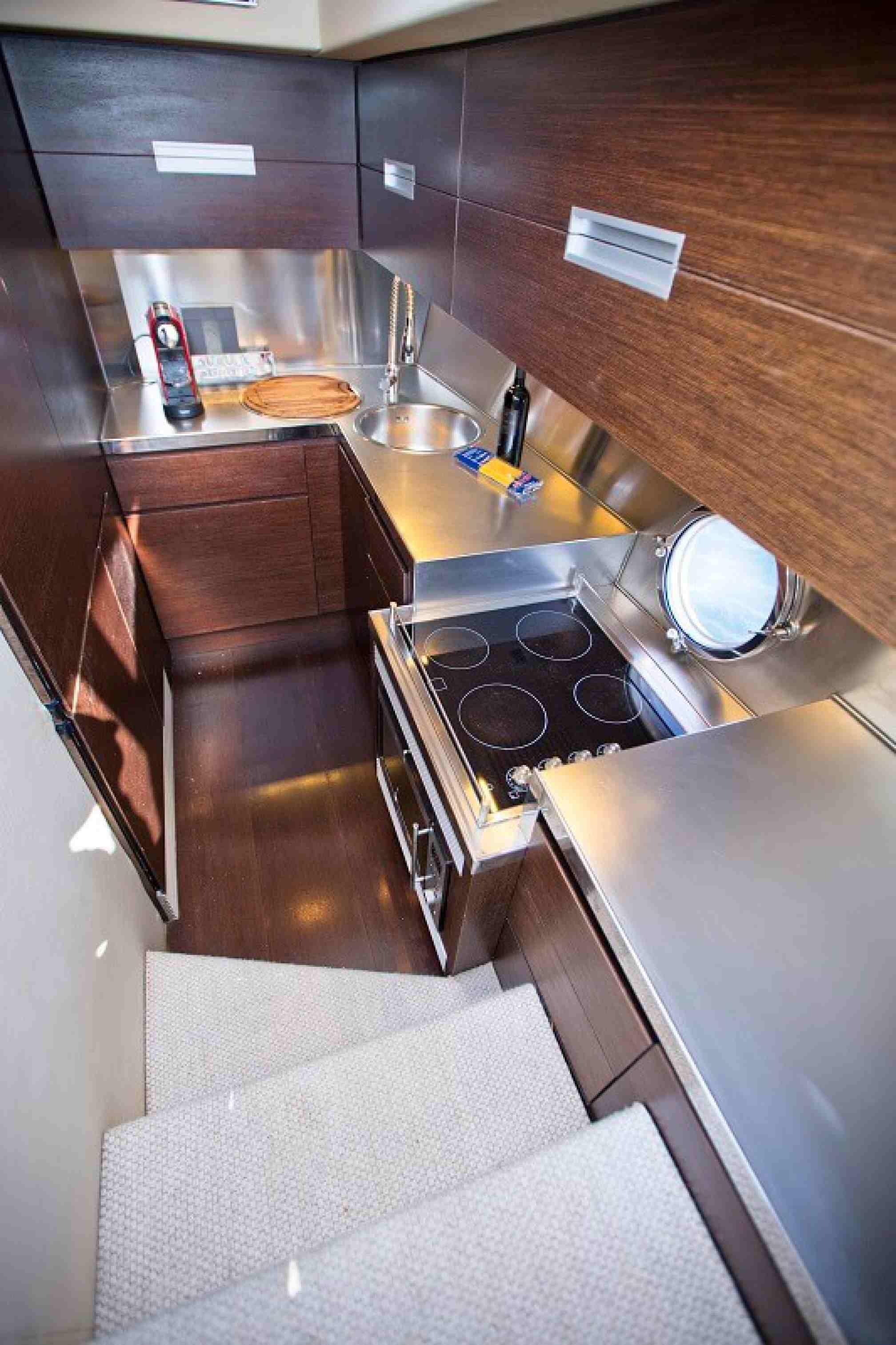 Azimut 68S yacht charter galley