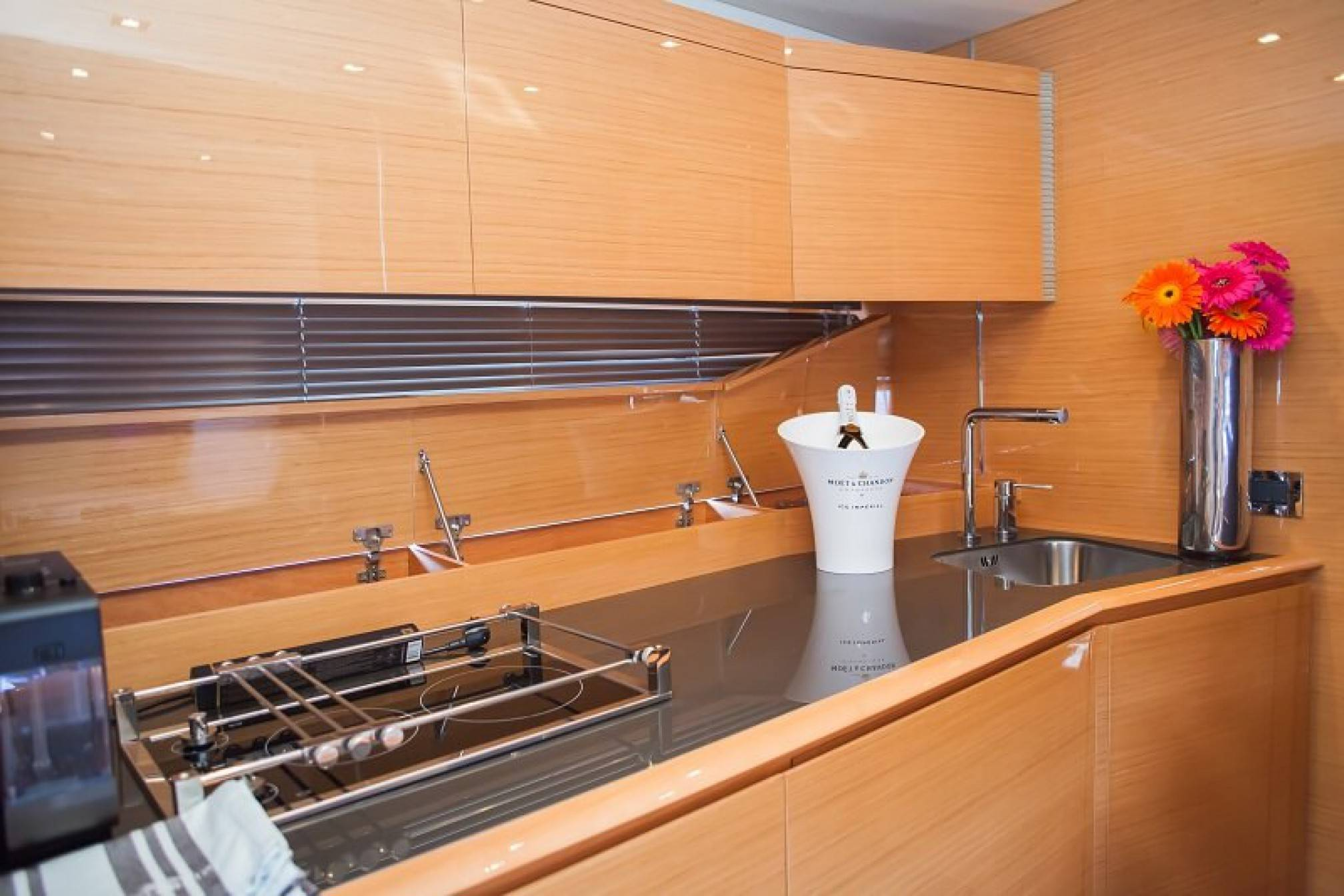 Azimut Atlantis 54 yacht charter galley