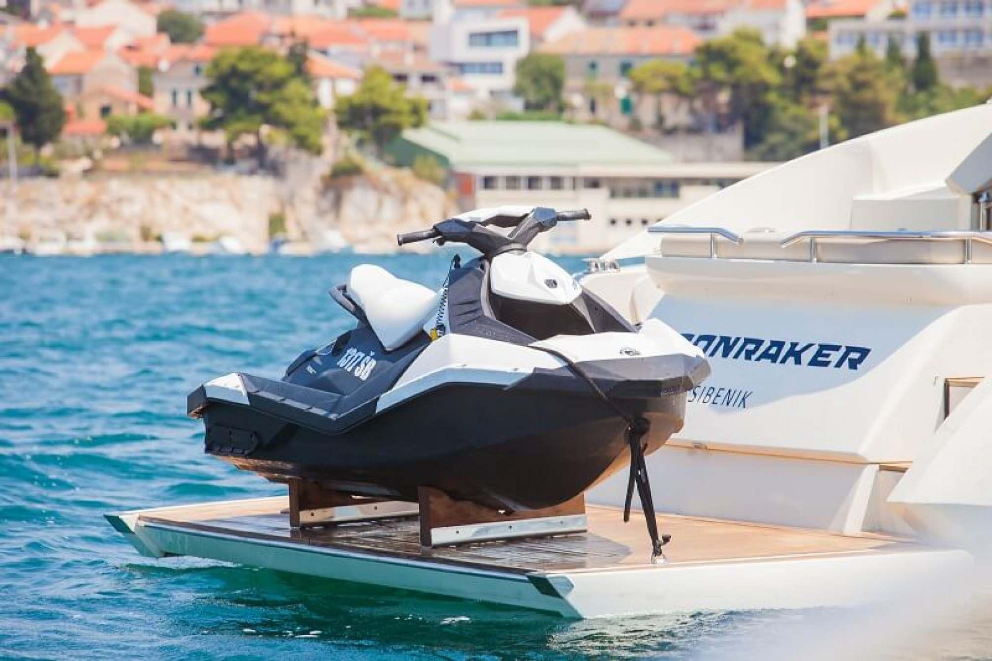 Azimut Atlantis 54 yacht charter jet ski