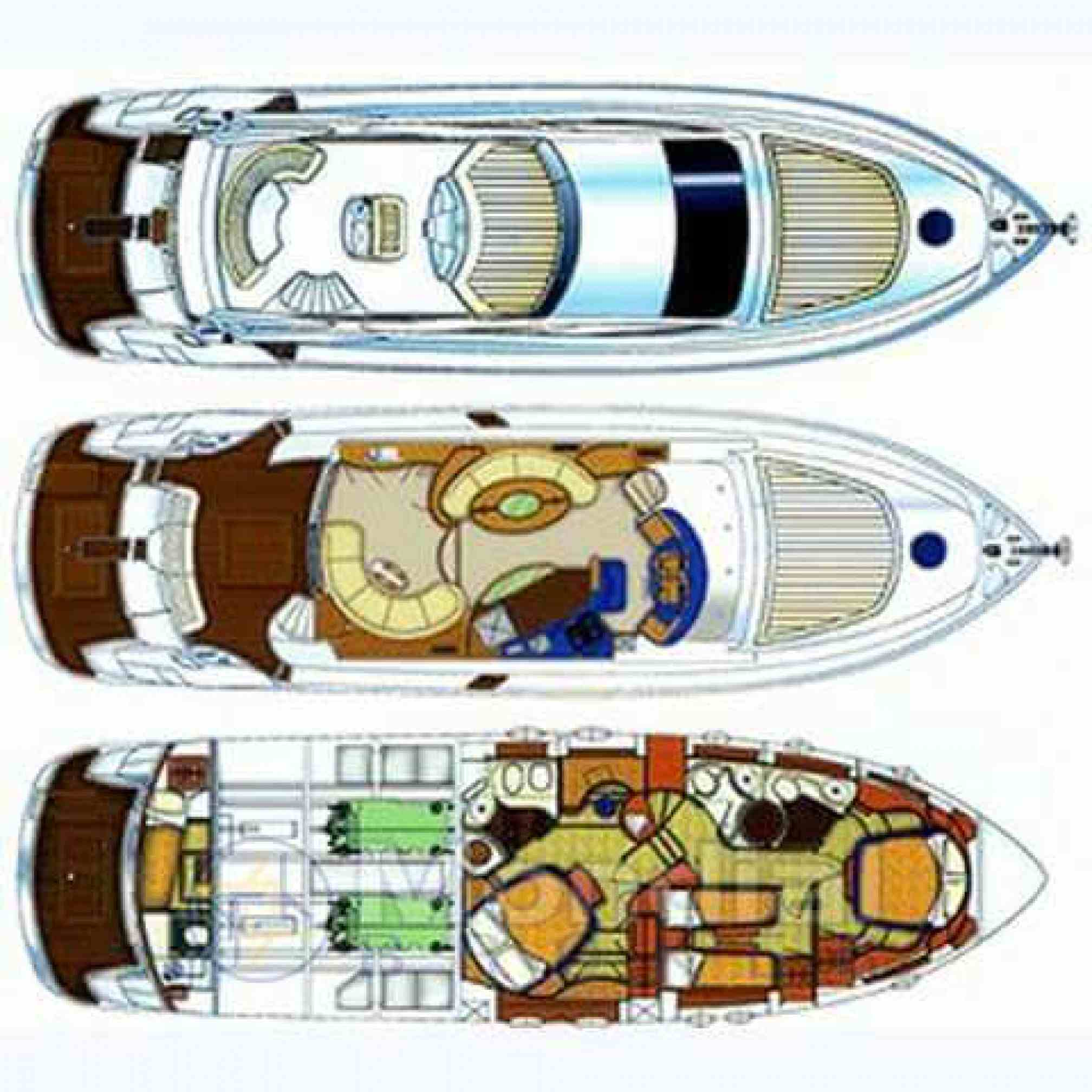 Aicon 56 Fly yacht charter layout