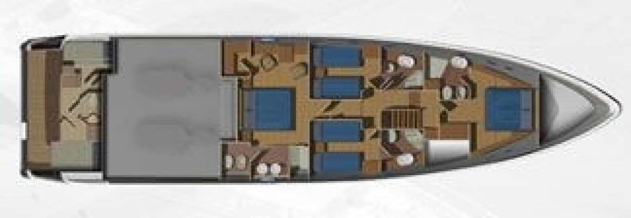Aicon 75 yacht charter layout