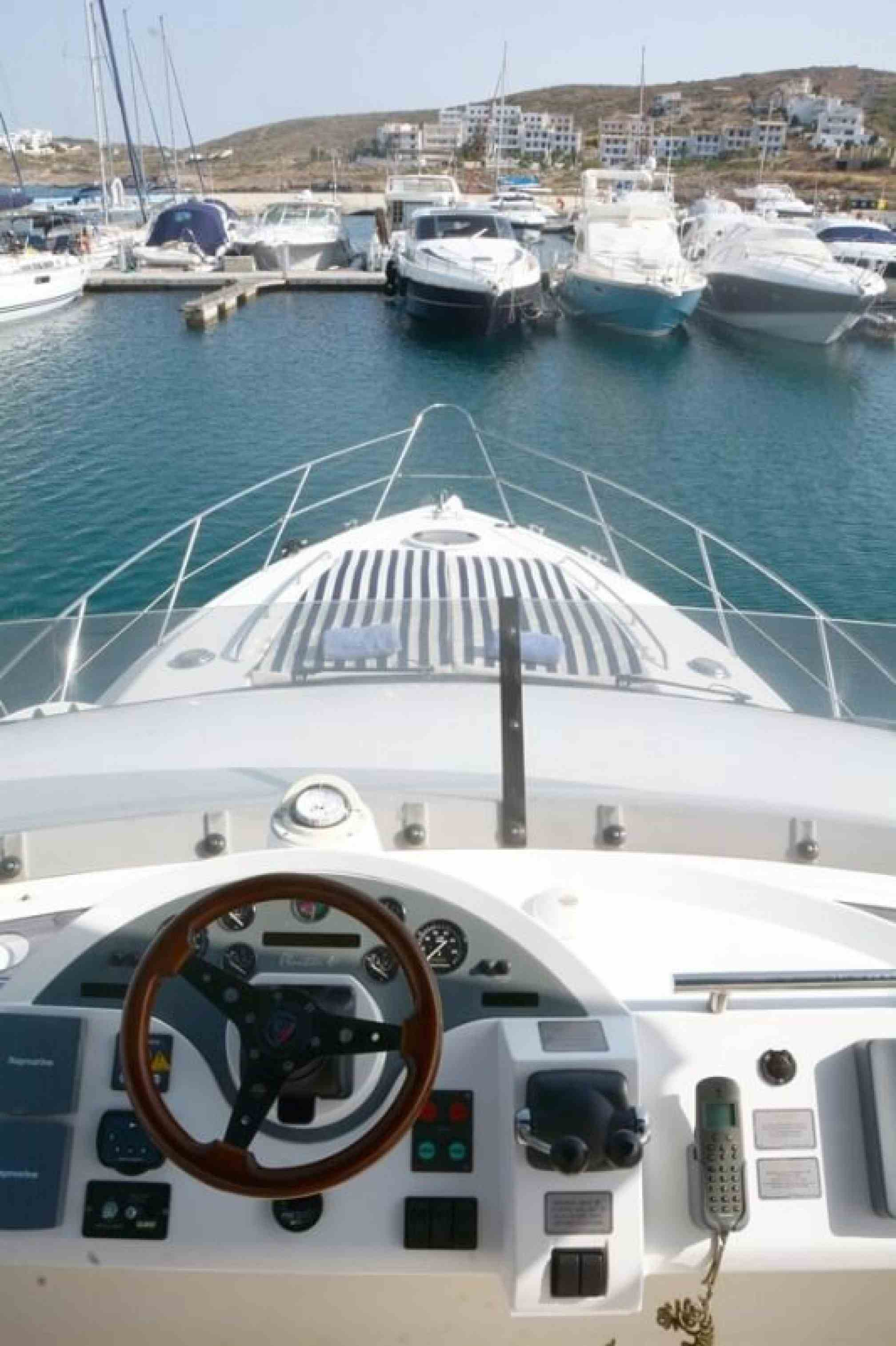Fairline 46 yacht charter bow