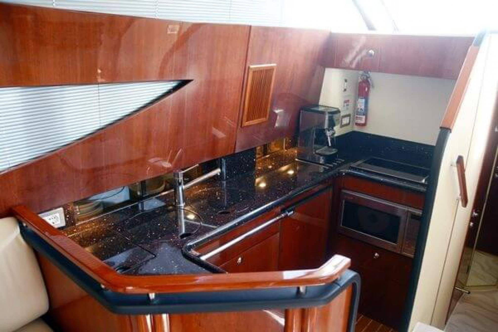 Fairline 46 yacht charter galley