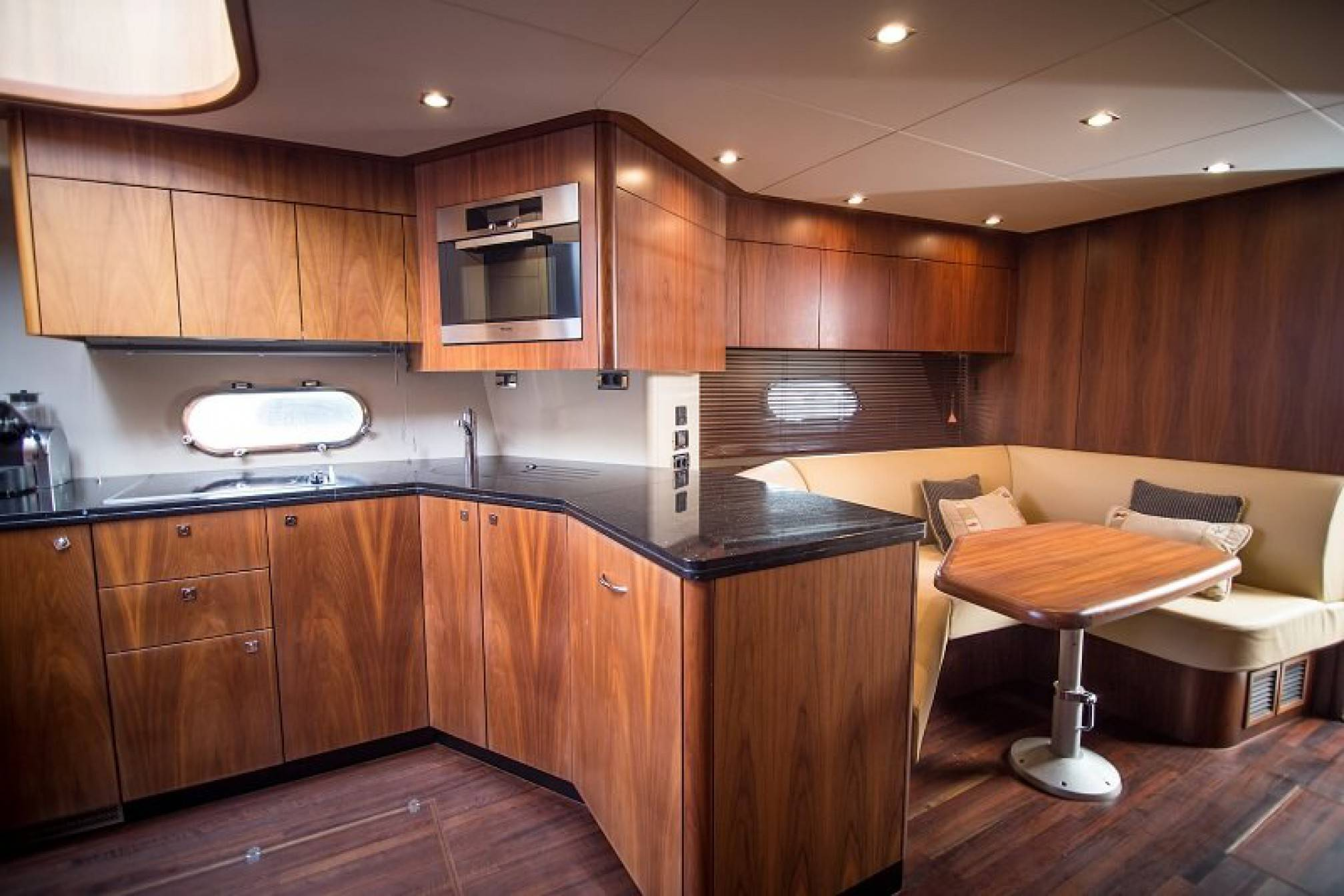 Sunseeker Predator 72 yacht charter galley