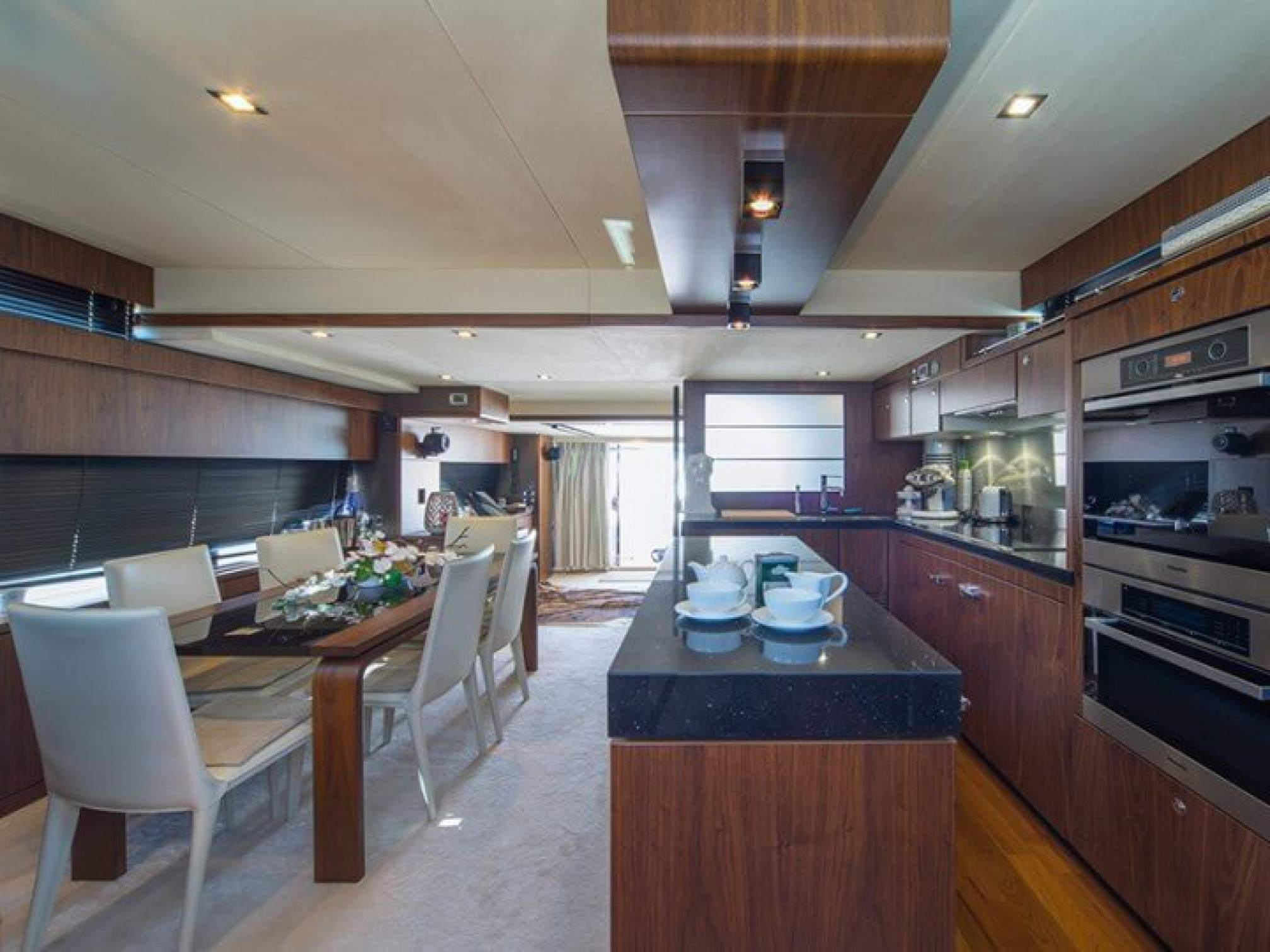 Squadron 78 Ingrid yacht charter dinning room