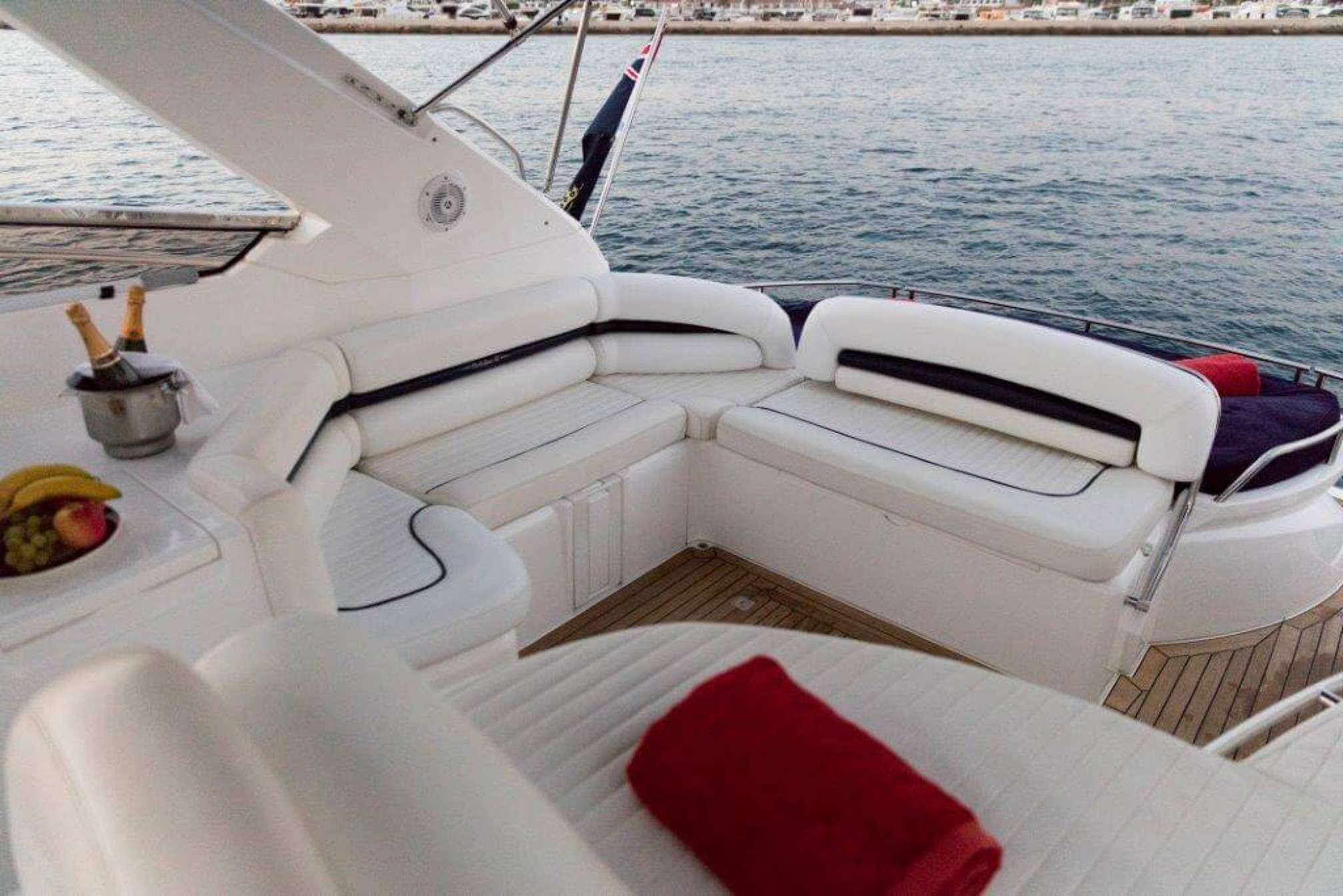 Sunseeker Portofino 47 yacht charter cockpit
