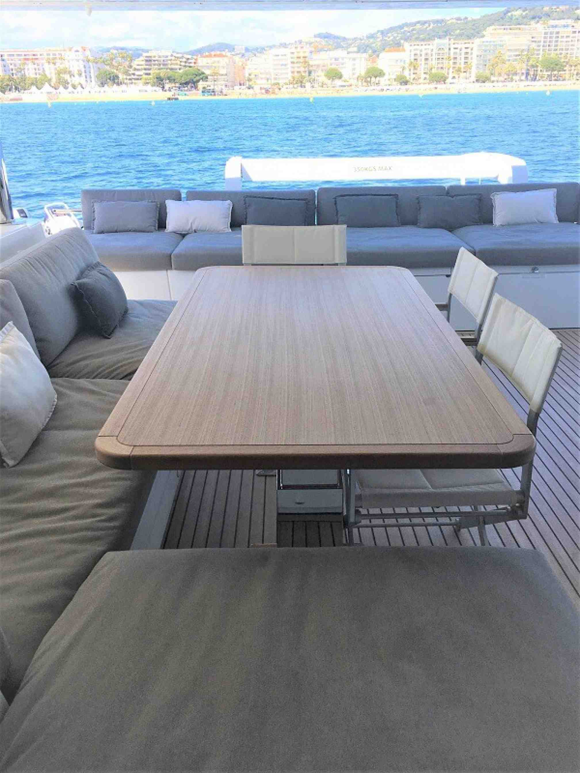 Oryx catamaran charter flybridge
