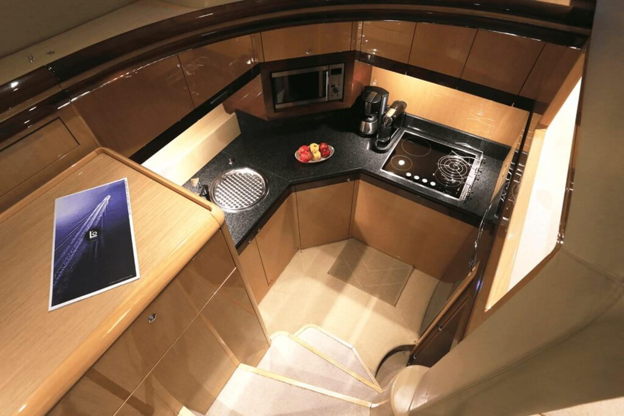 Ferretti 550 Fly yacht charter galley