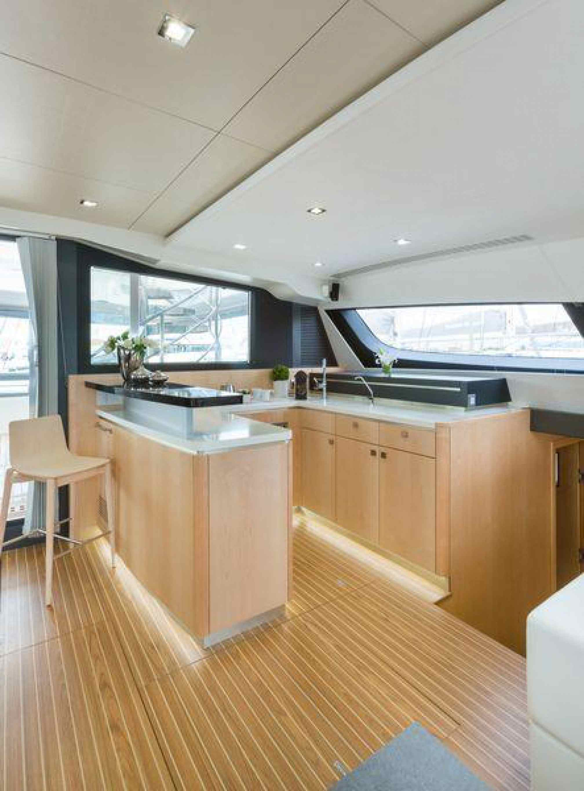 Privilege Serie 7 Namaste catamaran charter galley