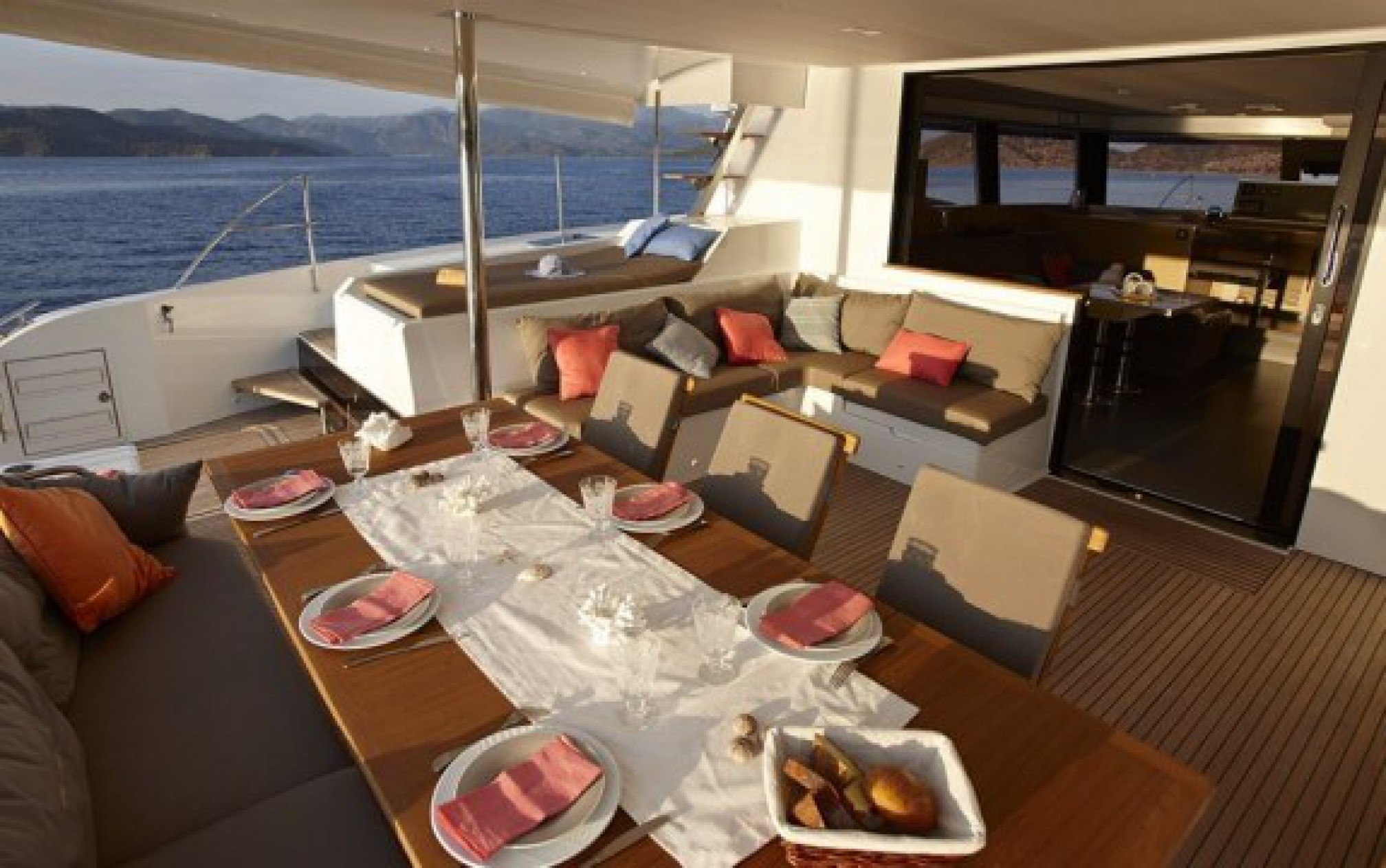 Ipanema 58 catamaran charter deck
