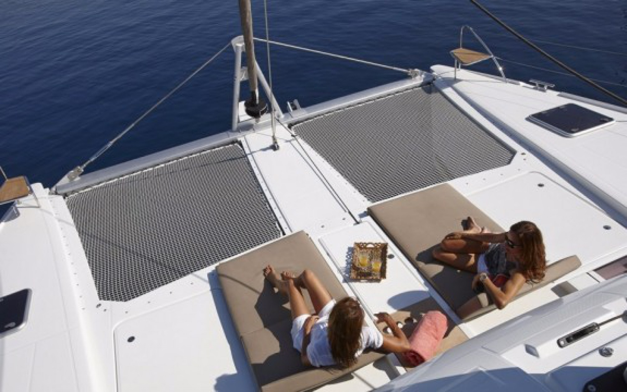 Ipanema 58 catamaran charter deck