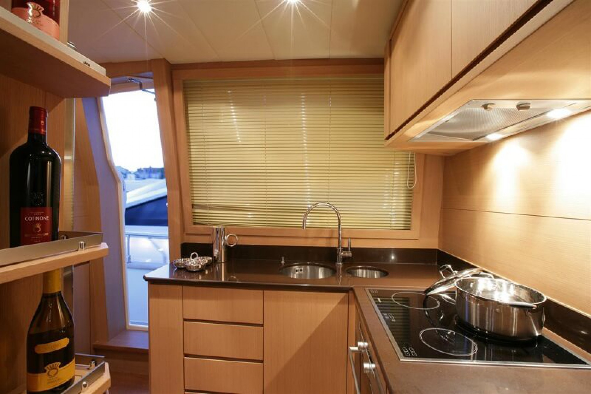 Deauville 76 Blue Angel yacht charter galley