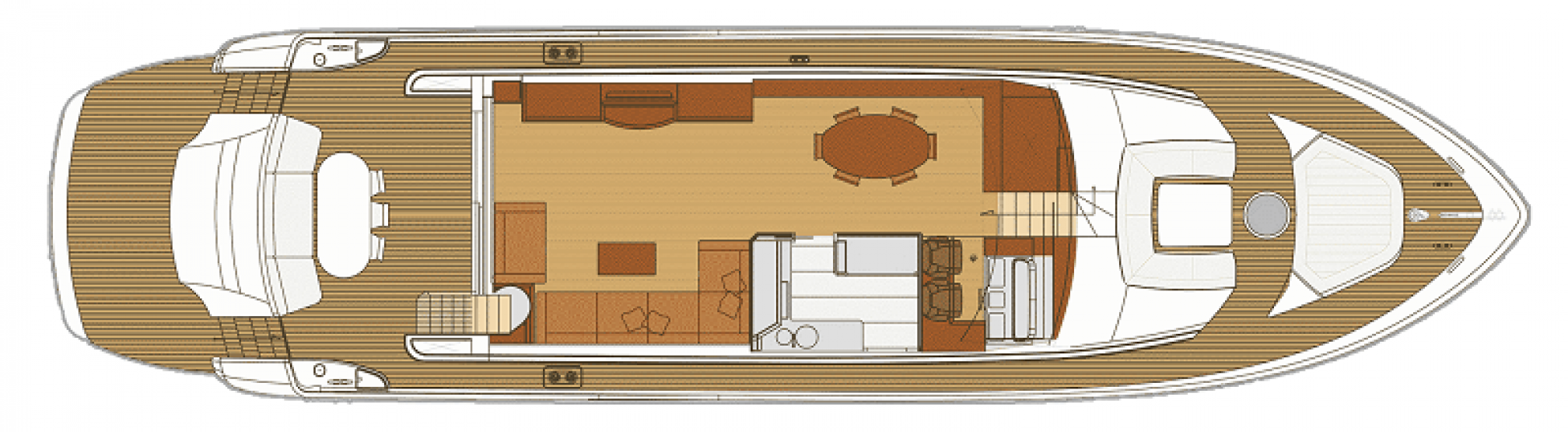 Deauville 76 Blue Angel yacht charter layout