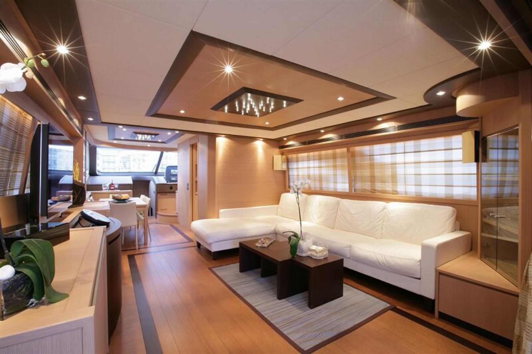 Deauville 76 Blue Angel yacht charter salon