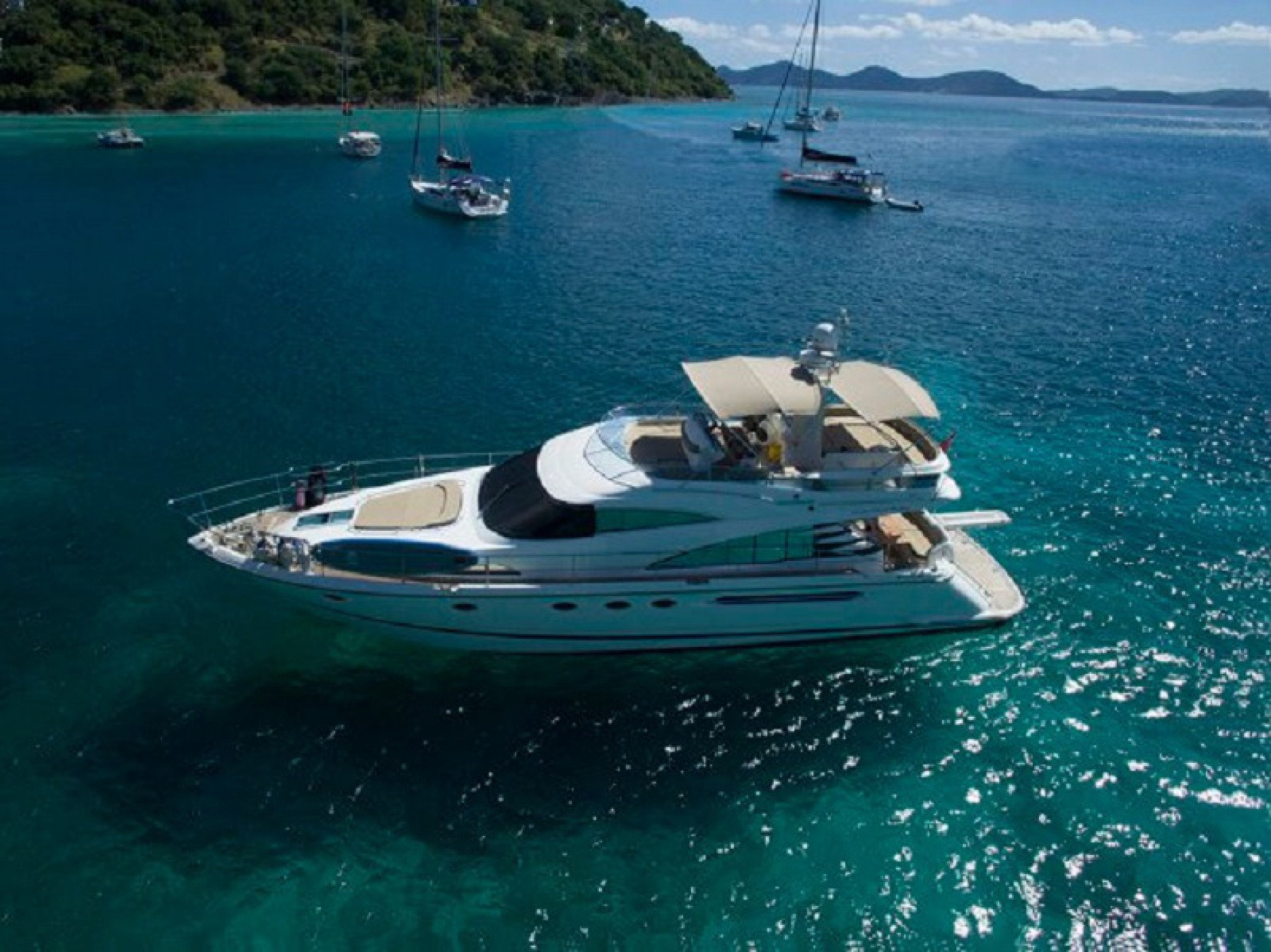 Fairline Squadron yacht charter mooring