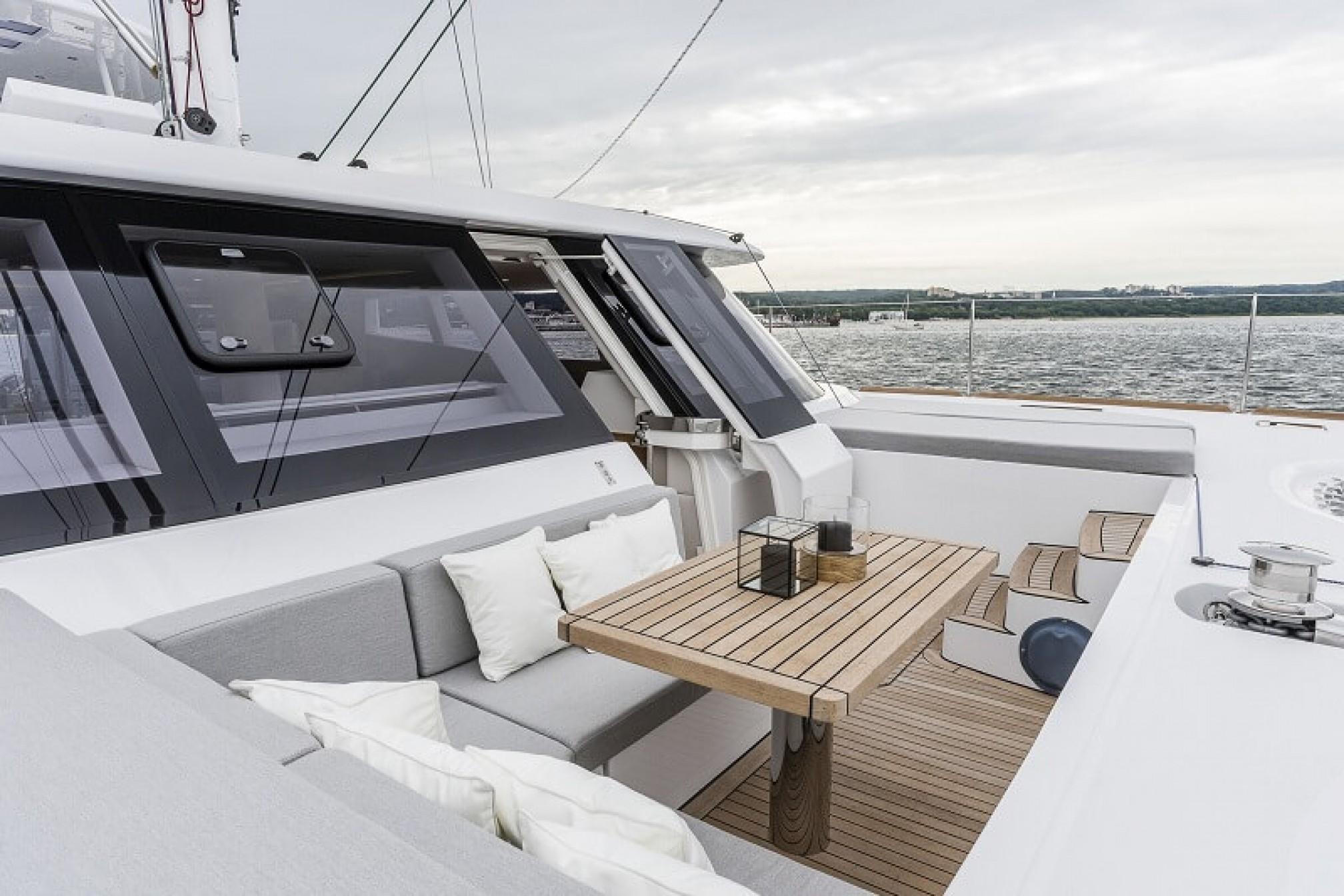 Sunreef 74 'CALMAO' catamaran charter deck